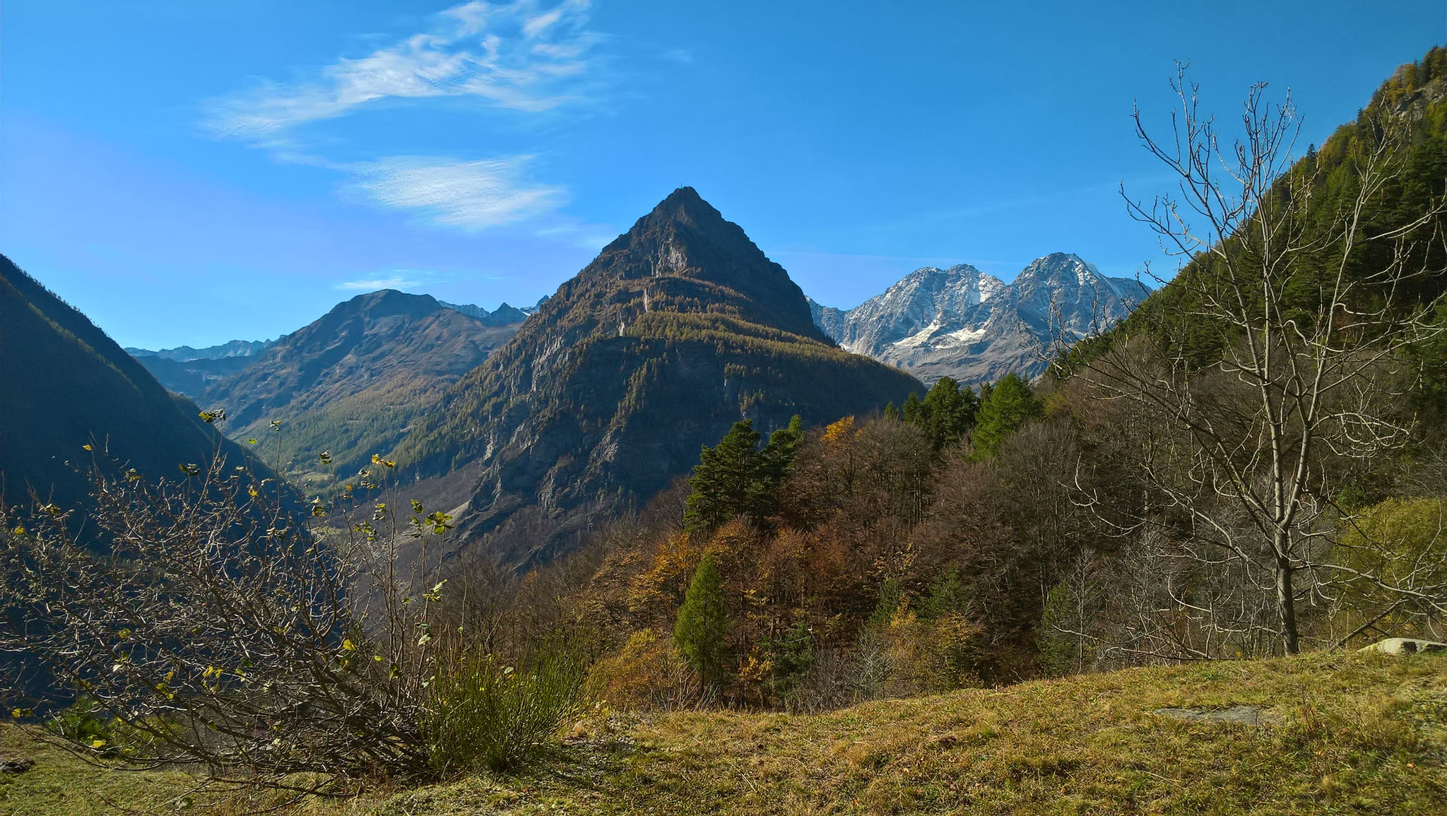 Ausblick richtung Schweiz, Zwischbergental, Seehorn