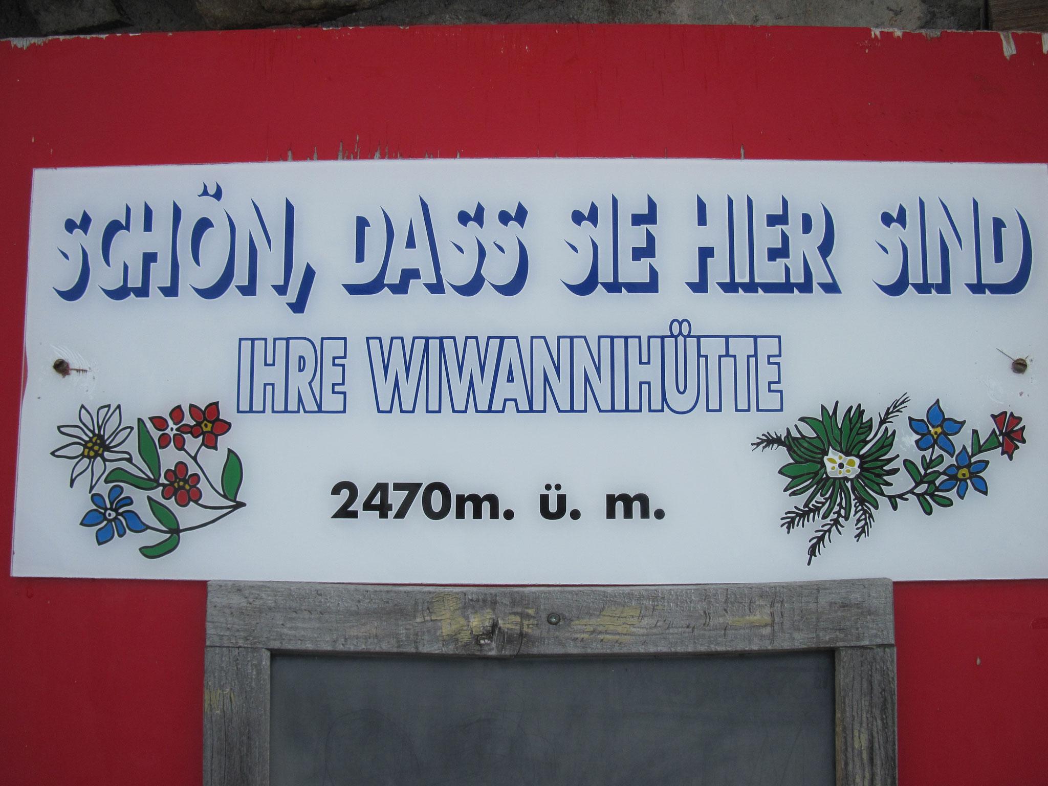 Ankunft Wiwannihütte, oberhalb Ausserberg