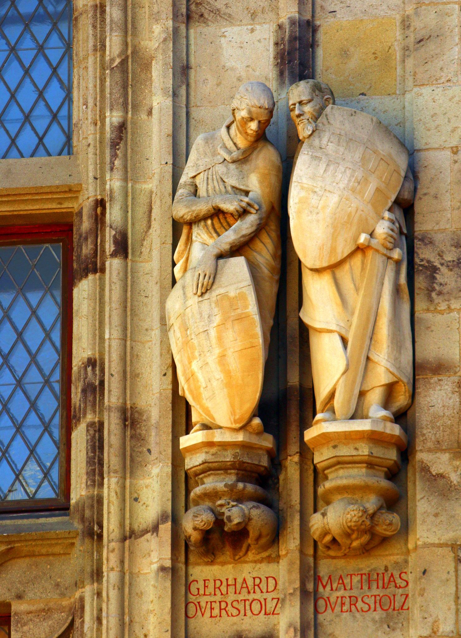 Mittelalter-Tour - Rathausturmfiguren v. G. + M. Overstolz (13. Jh.)