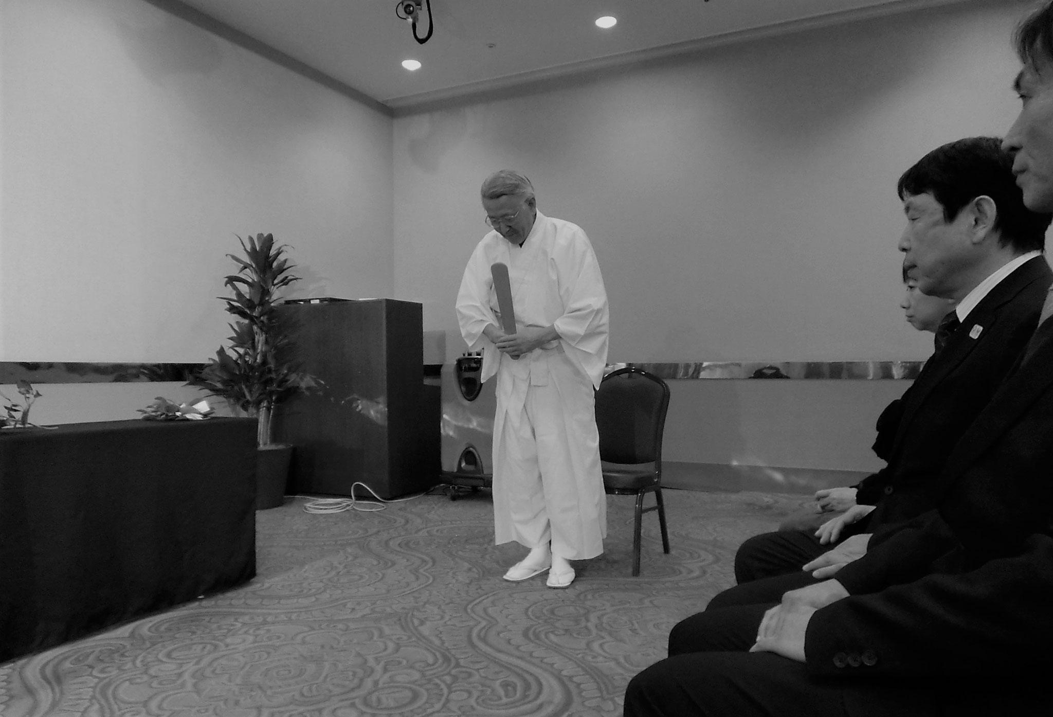 諏訪道場10周年記念式典、弥栄を祈って神事を賜る。