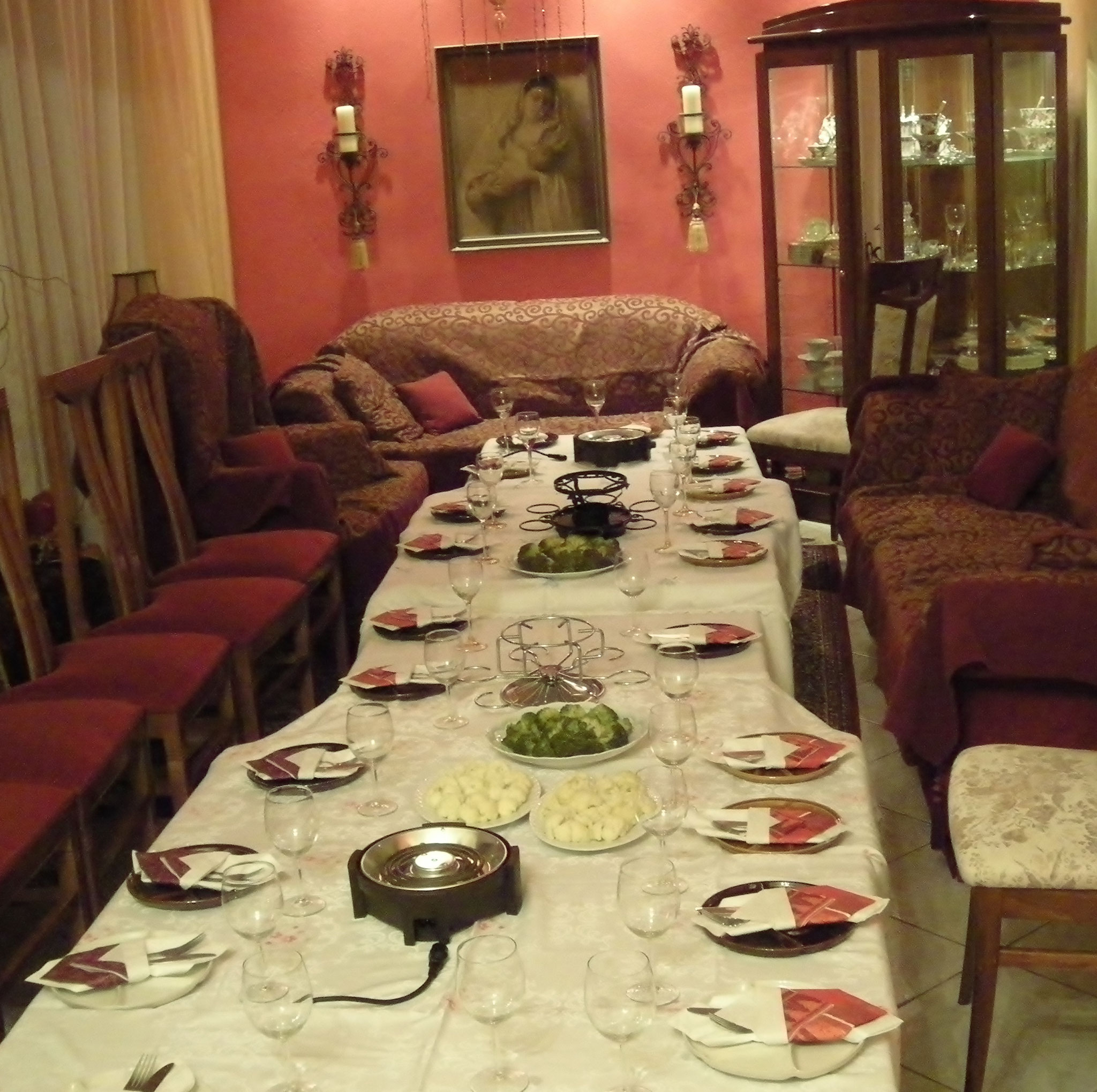 カバラのクリサンティの家でパーティー!
