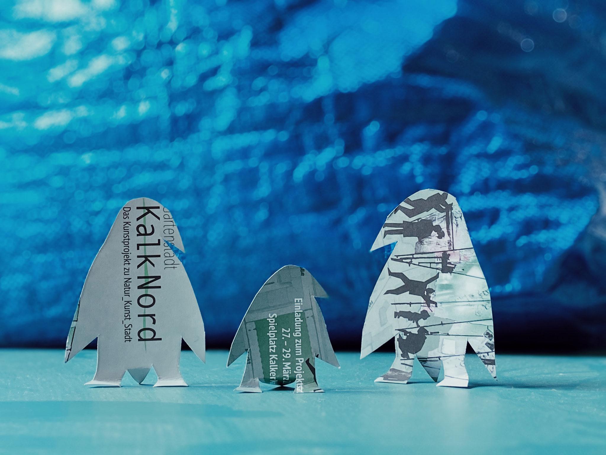 Karten Transformation_ Wilde Herde_Pinguine_Halina und Ava_2020- Foto: Marco Woyczikowski