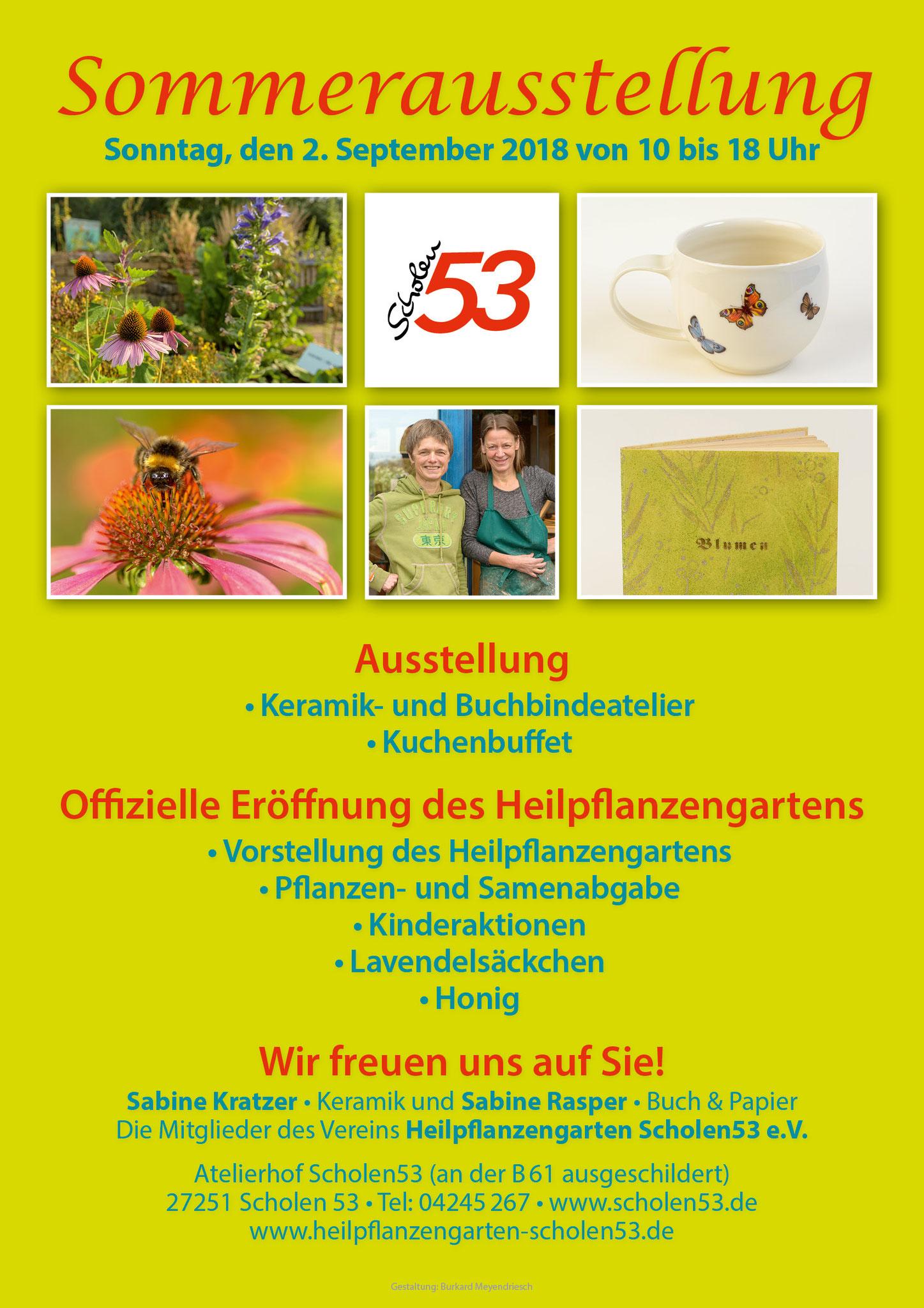 Plakat zur Sommerausstellung 2018