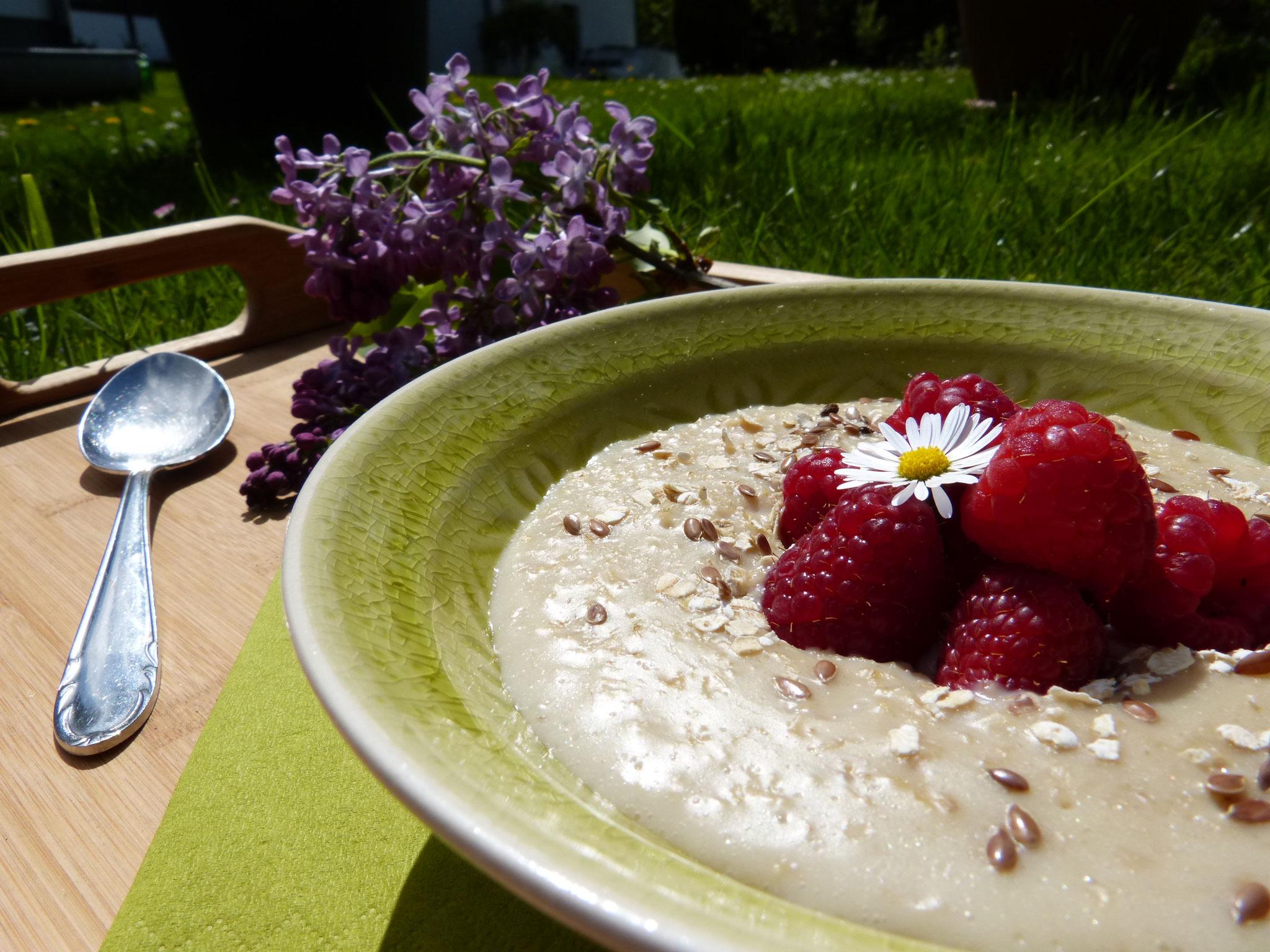 Gesunde Ernährung wird hier großgeschrieben - hier zu sehen: Oatmeal