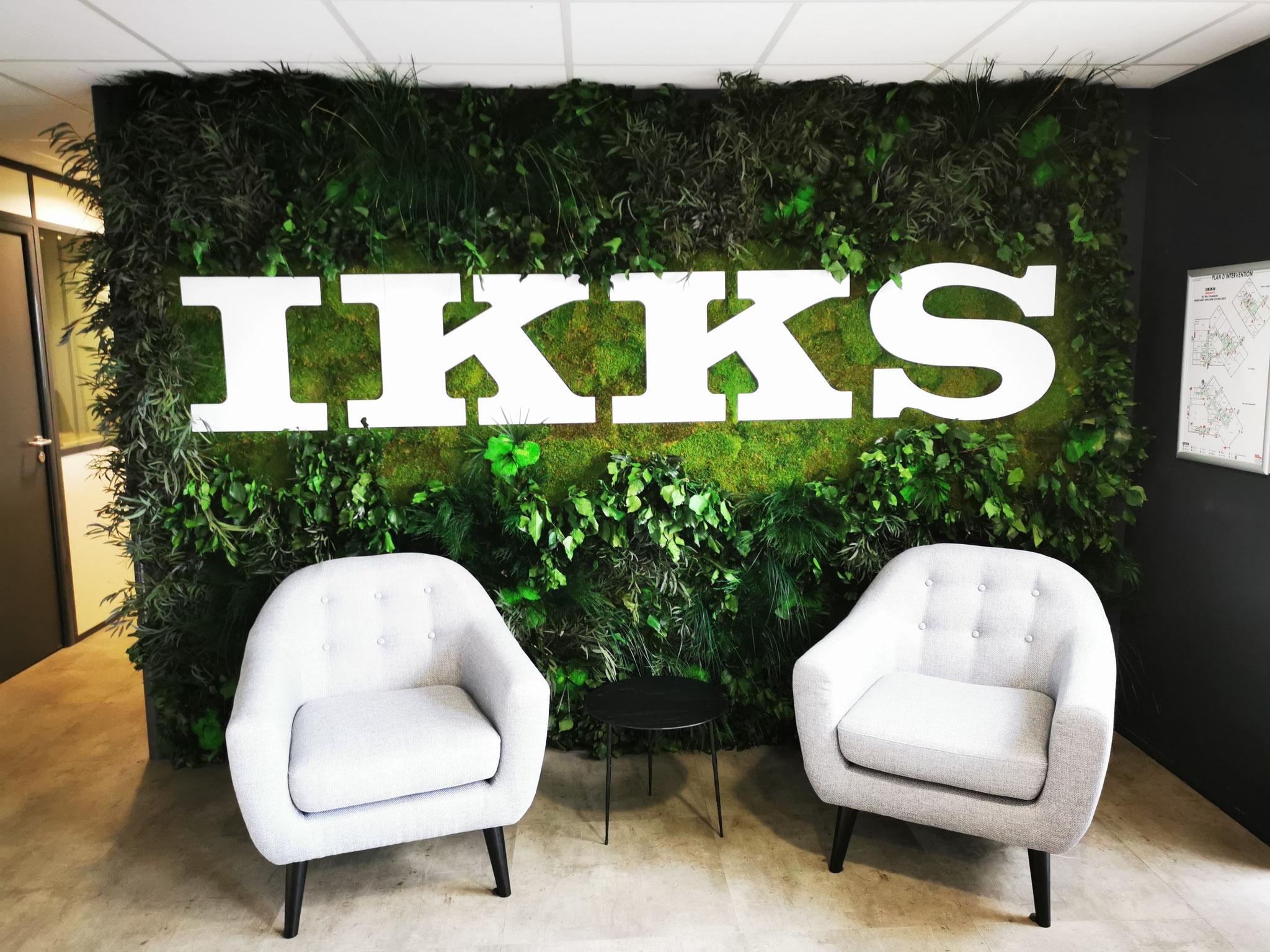 Mur végétal gamme feuillu (IKKS)