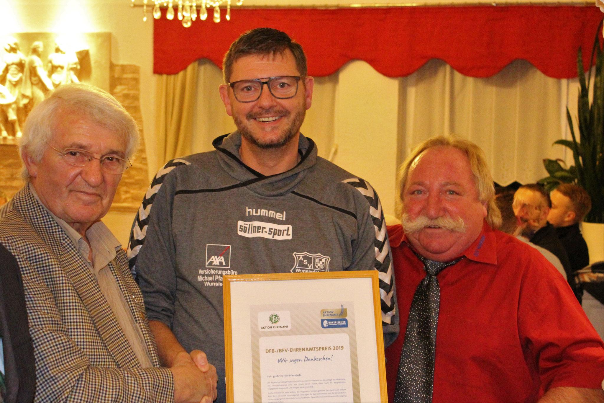 Ehrenamtspreisträger Michael Pfauntsch