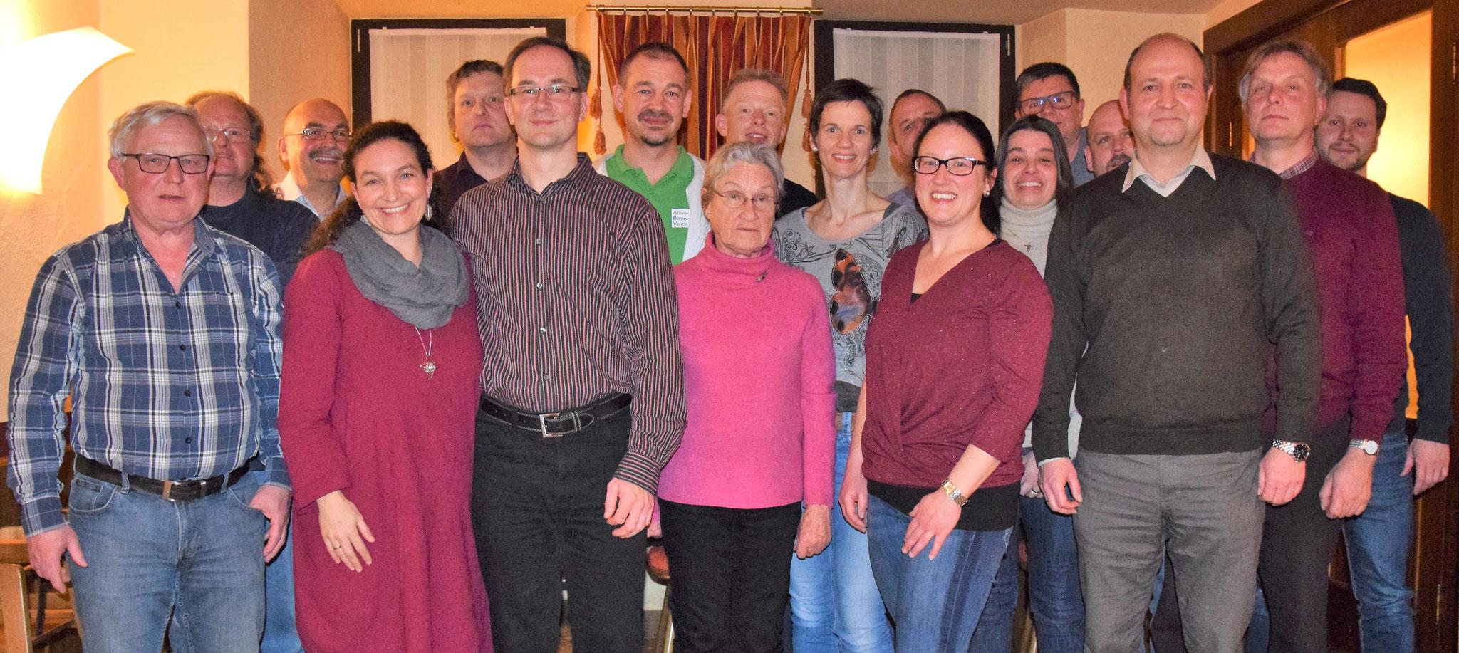 Die Teilnehmer der Jahreshauptversammlung