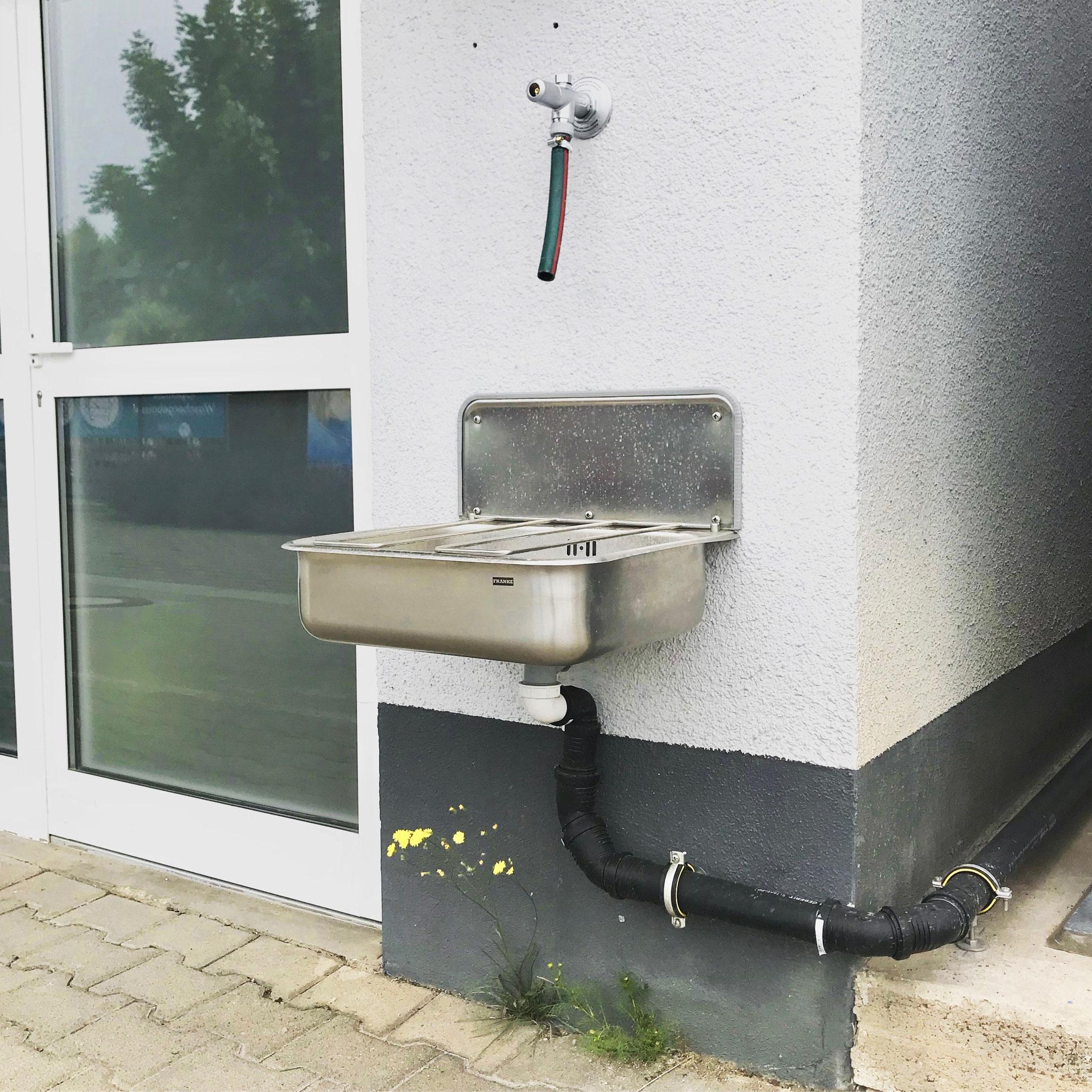 Warmwasseranschluss