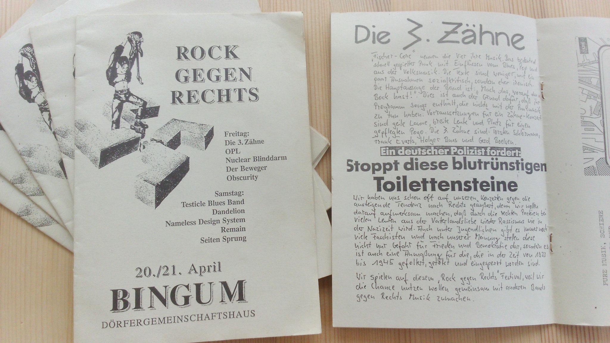 Progammheft Bingum 1990