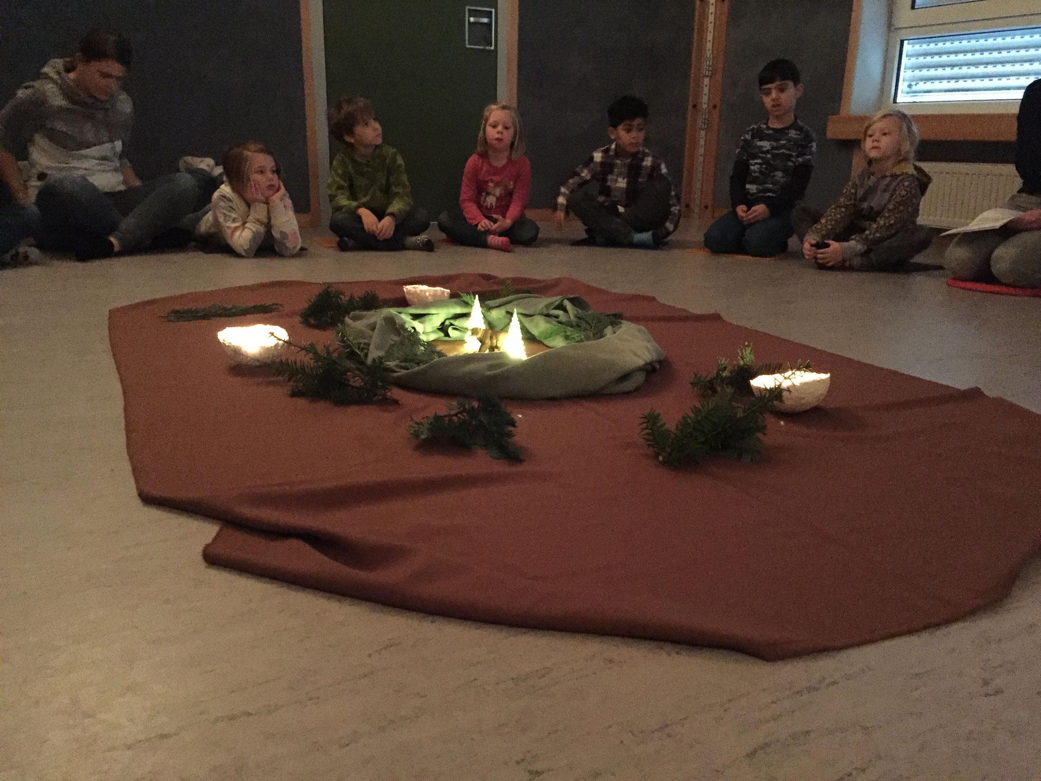Laurentiusschüler der SEP 1 im Katharina-Kindergarten