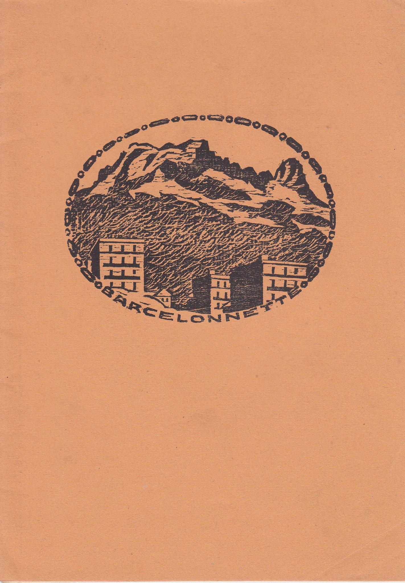 Umschlagsmappe für die Linolschnitt- bzw. Holzschnitt-Sammlung von R. Blumenschein