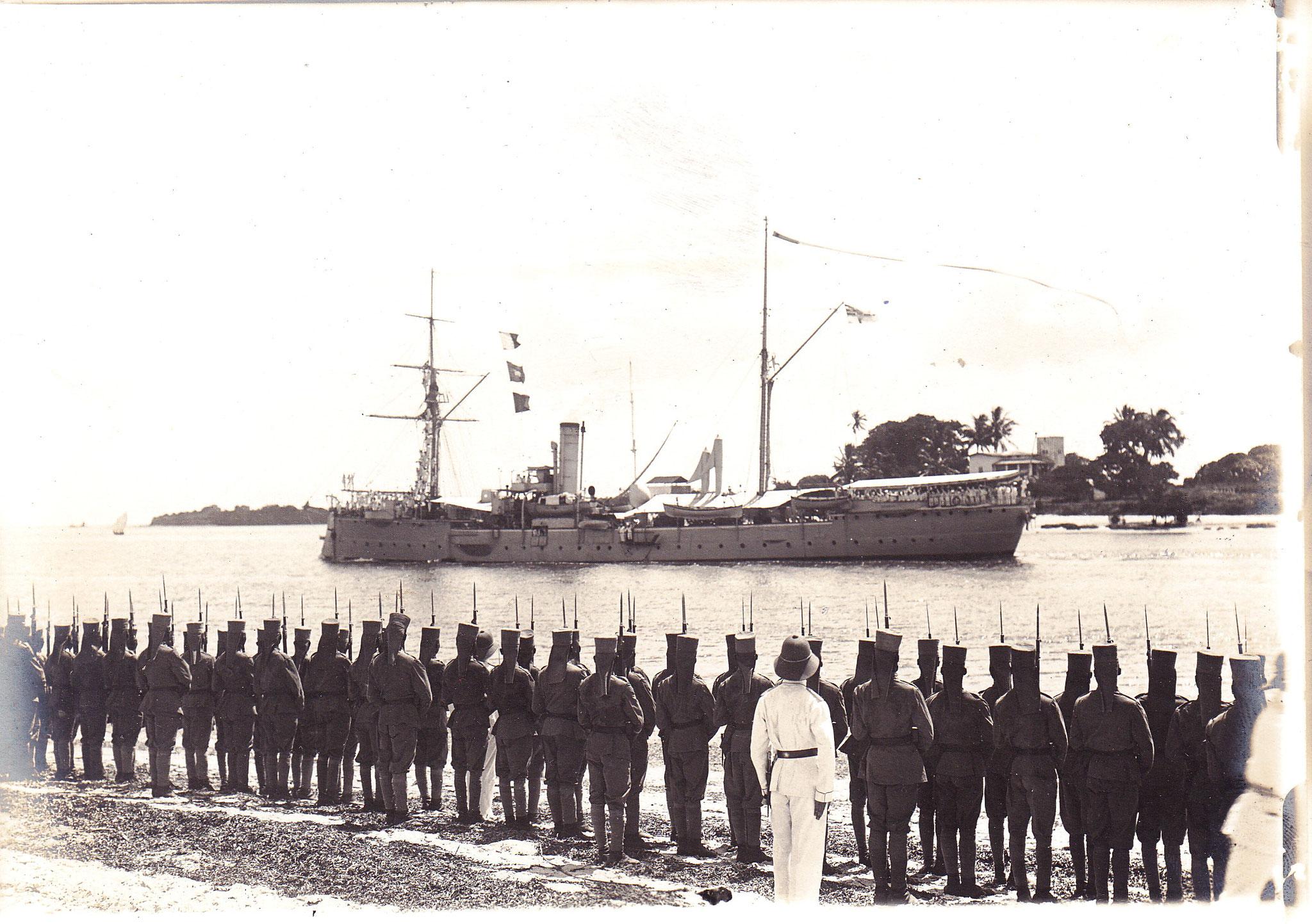 Verabschiedung und Ausreise S.M.S. Seeadler am 09.01.1914 zurück nach Deutschland I