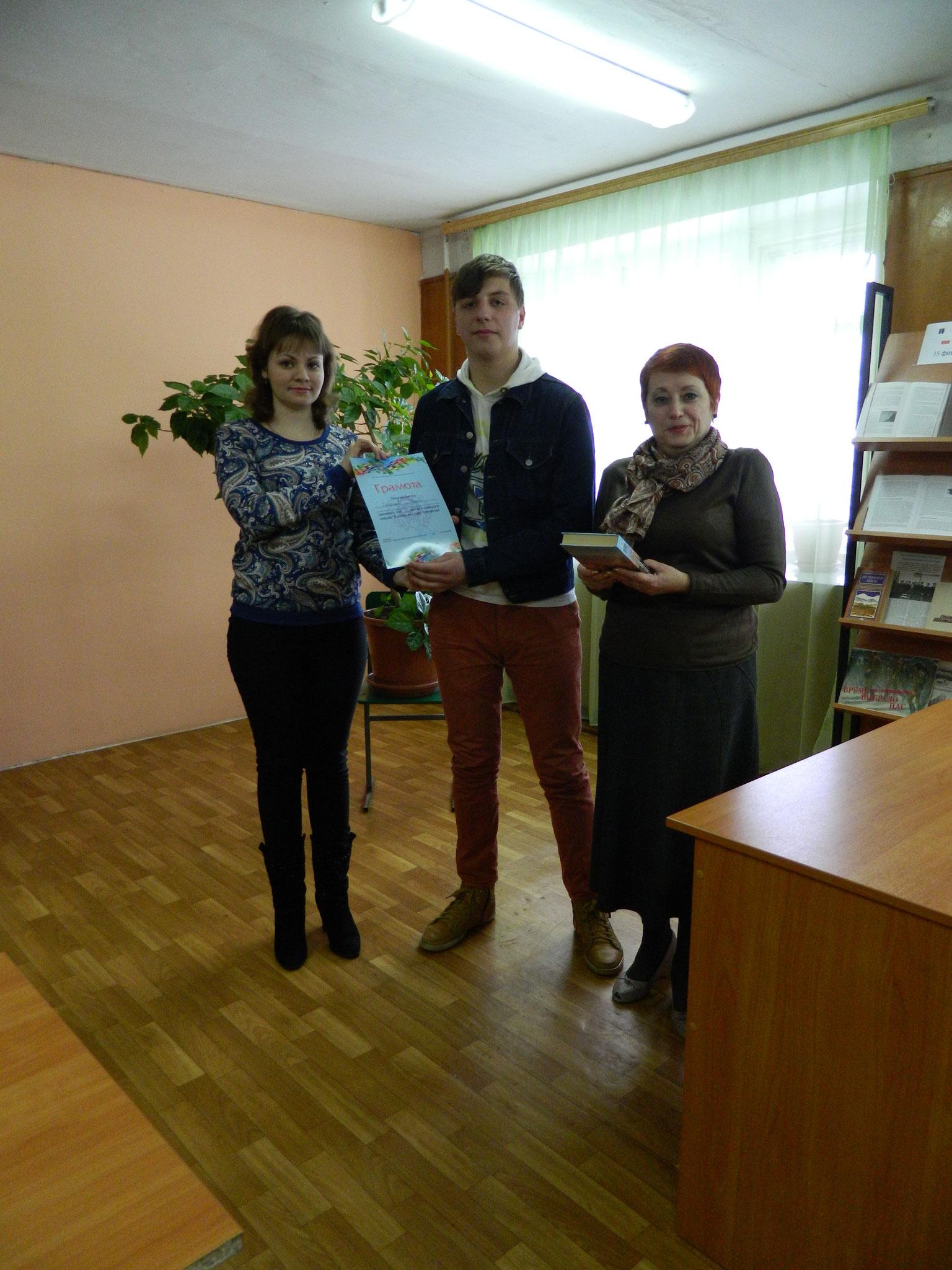 В составе членов жюри конкурса чтецов в колледже