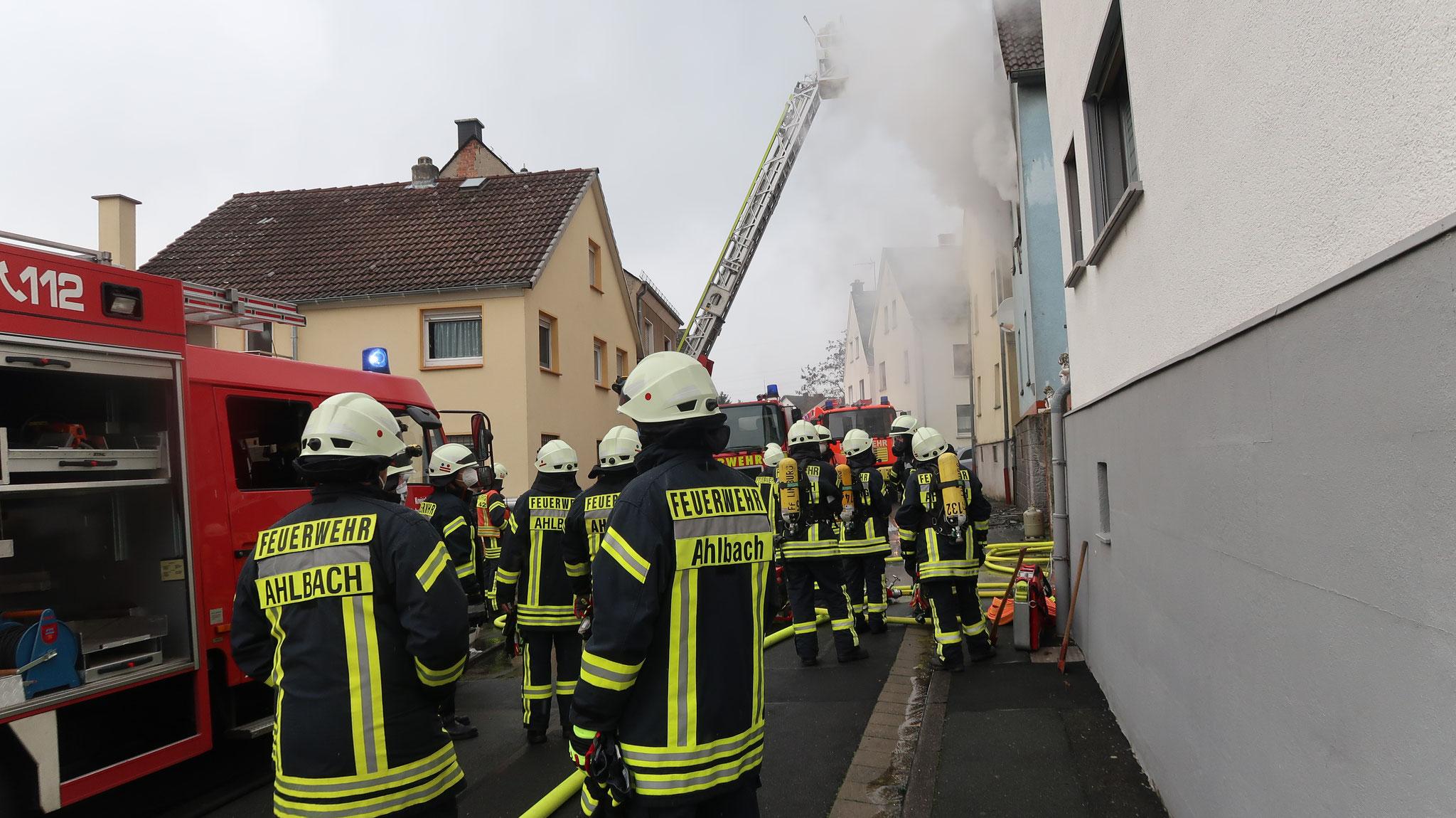 Gebäudebrand Ahlbach