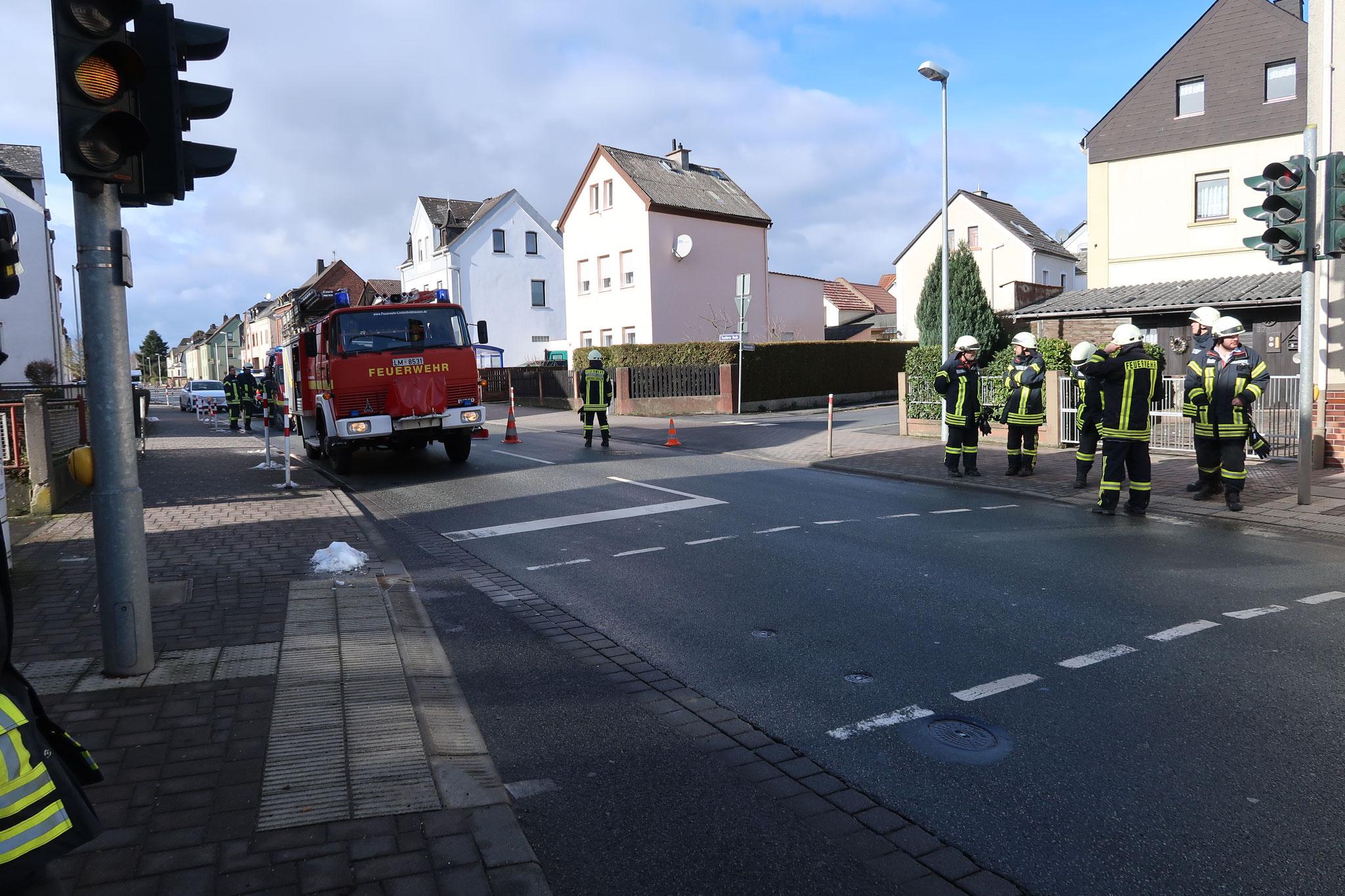 Kaminbrand, Lindenholzhausen, Frankfurter Straße