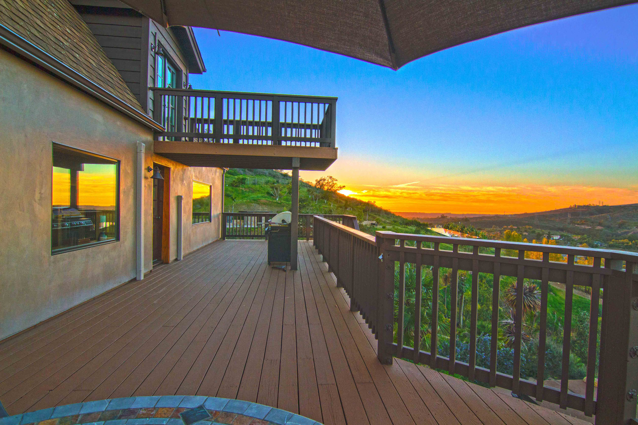 HDR patio sunset
