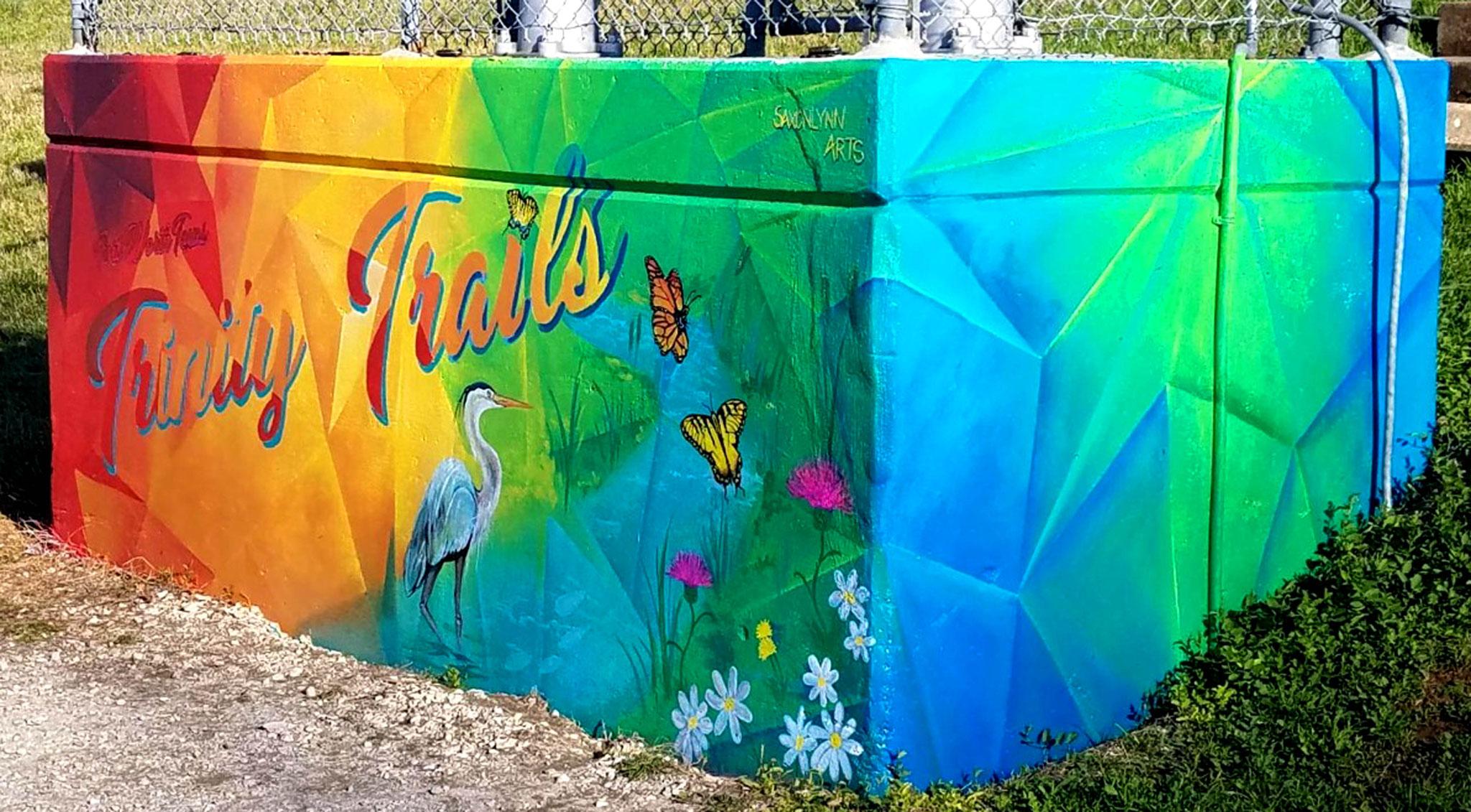 Trinity Trails Geometric Mural Fort Worth Texas