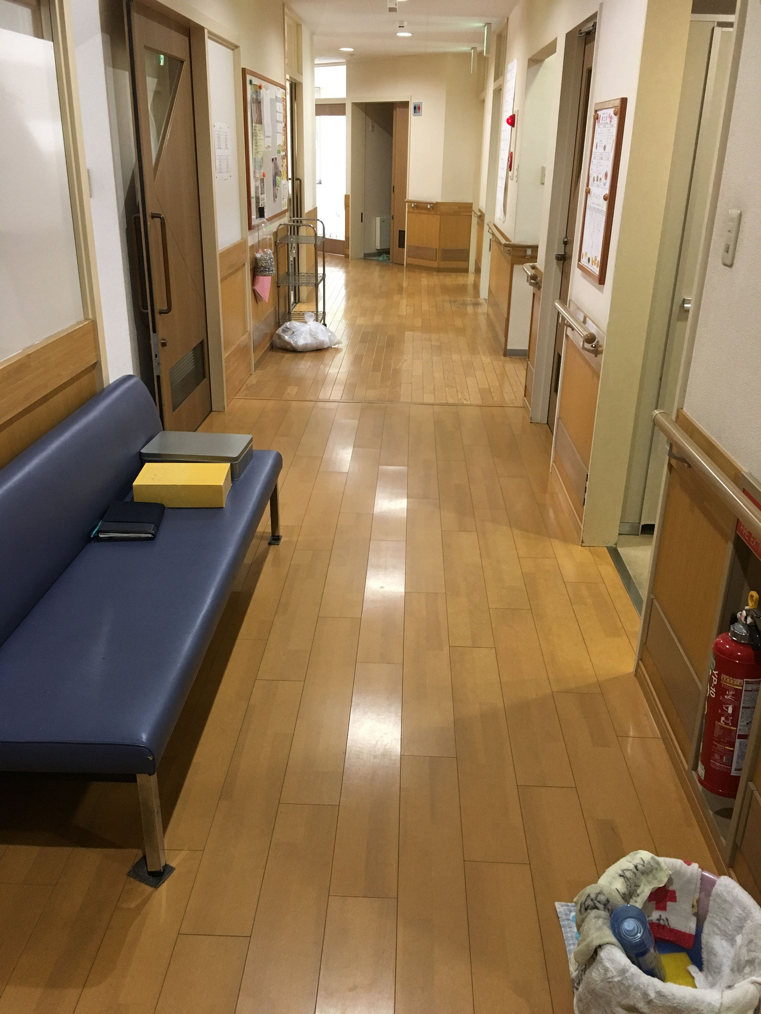 サポートステーション内の清掃