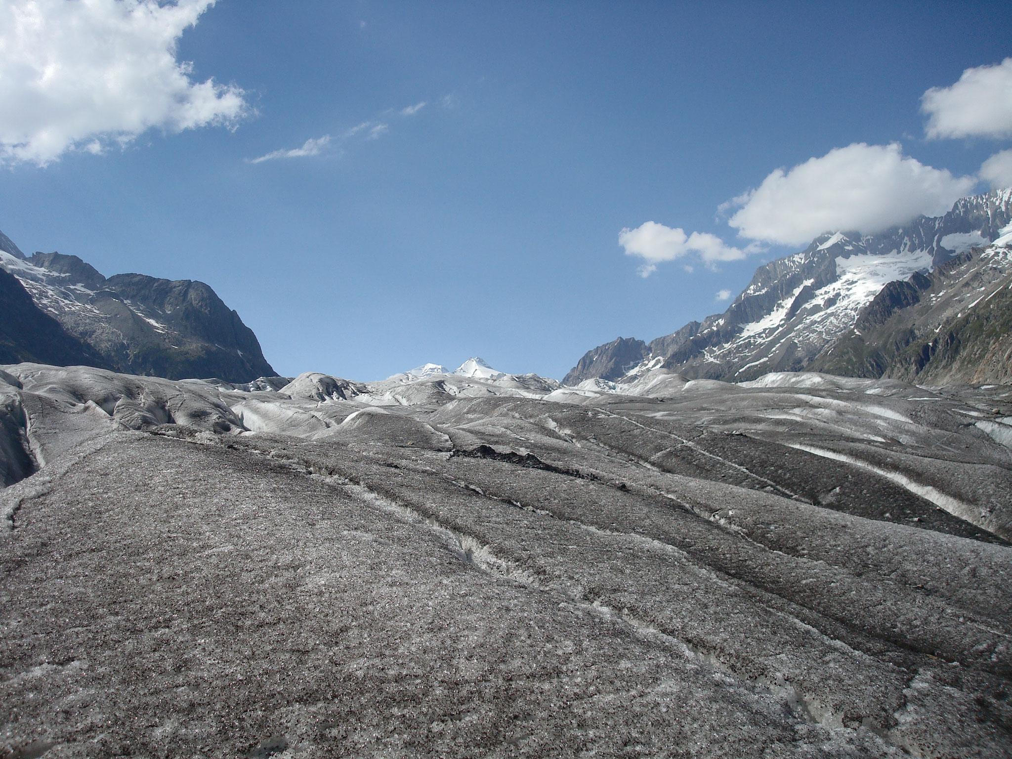 Aletschgletscher im Sommer
