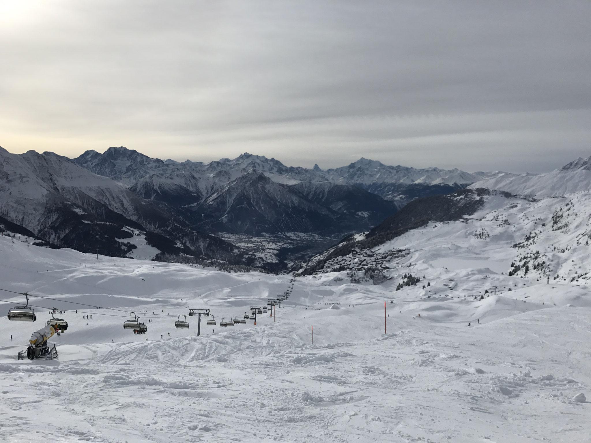 Sicht von der Bettmeralp auf Matterhorn, Weisshorn ...