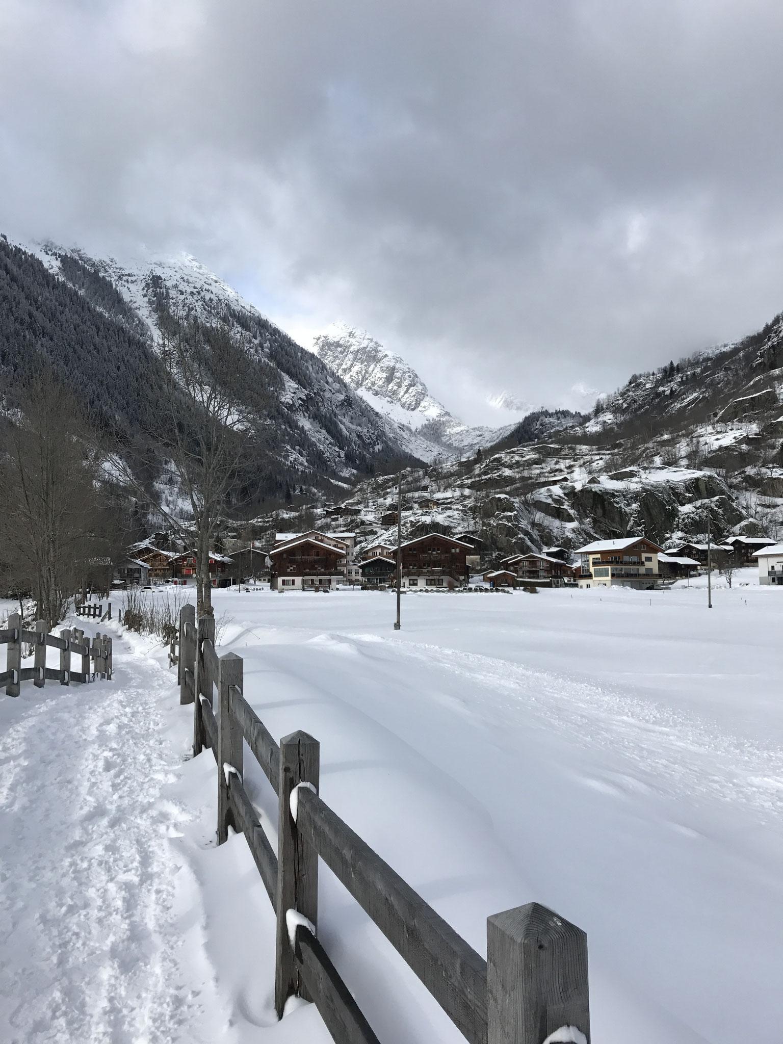 Wanderweg Richtung Fieschertal
