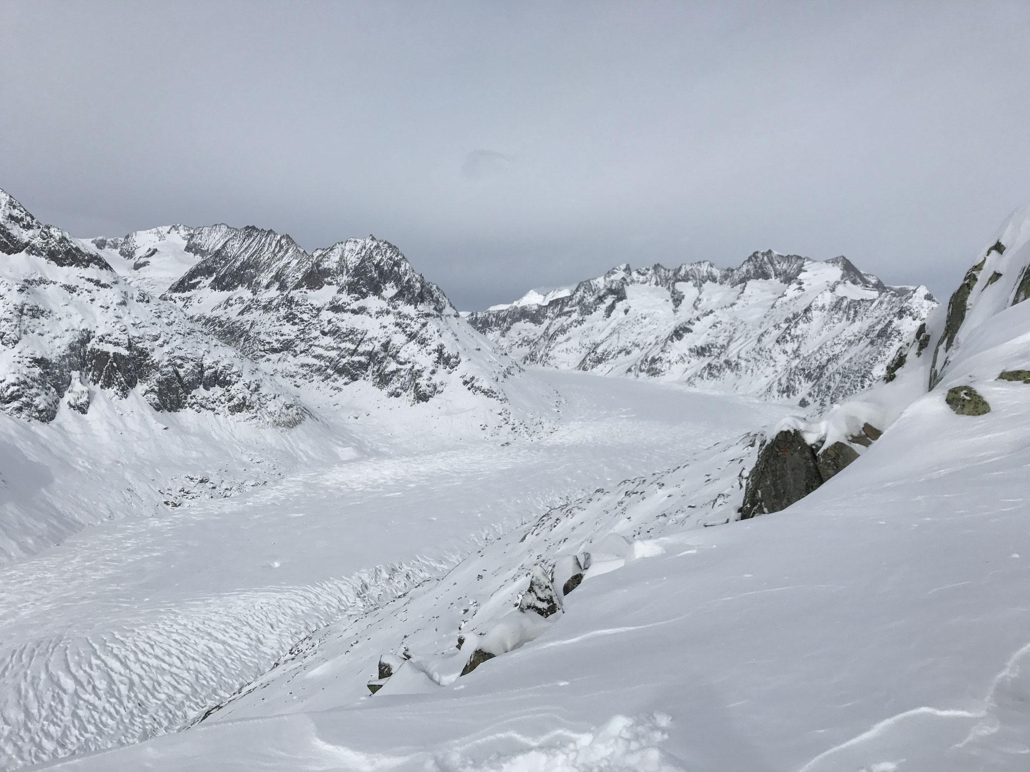 Aletschgletscher im Winter