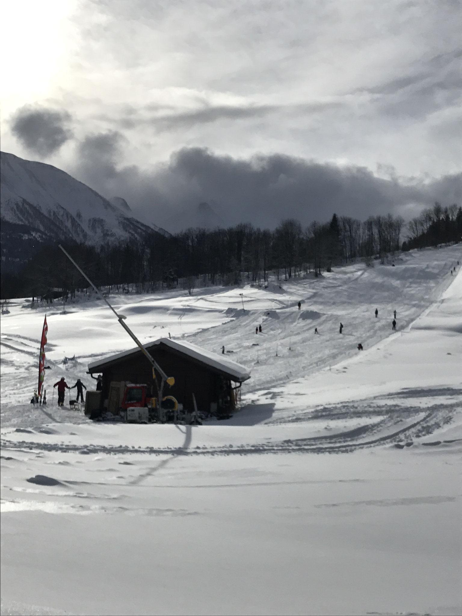 Skilift Blätz in Fieschertal, auch zum Schlitteln gut geeignet