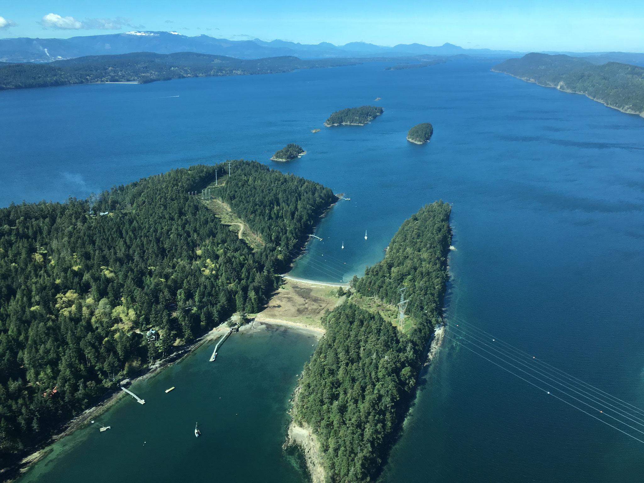 Flug von Saltspring Island nach Vancouver, BC, Canada 2016