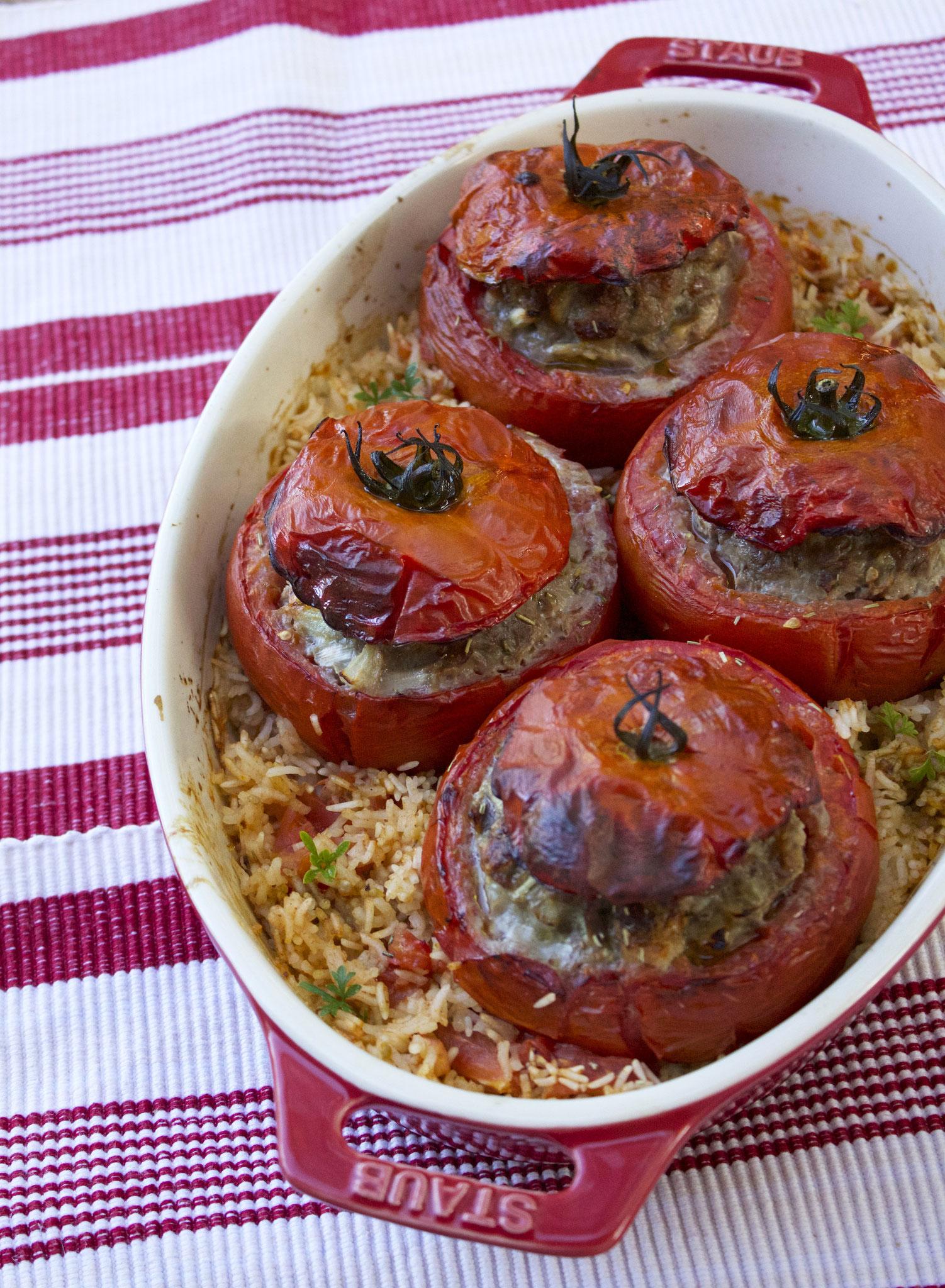 Image De Plat De Cuisine tomates farcies à l'ancienne - lady coquillette - recettes