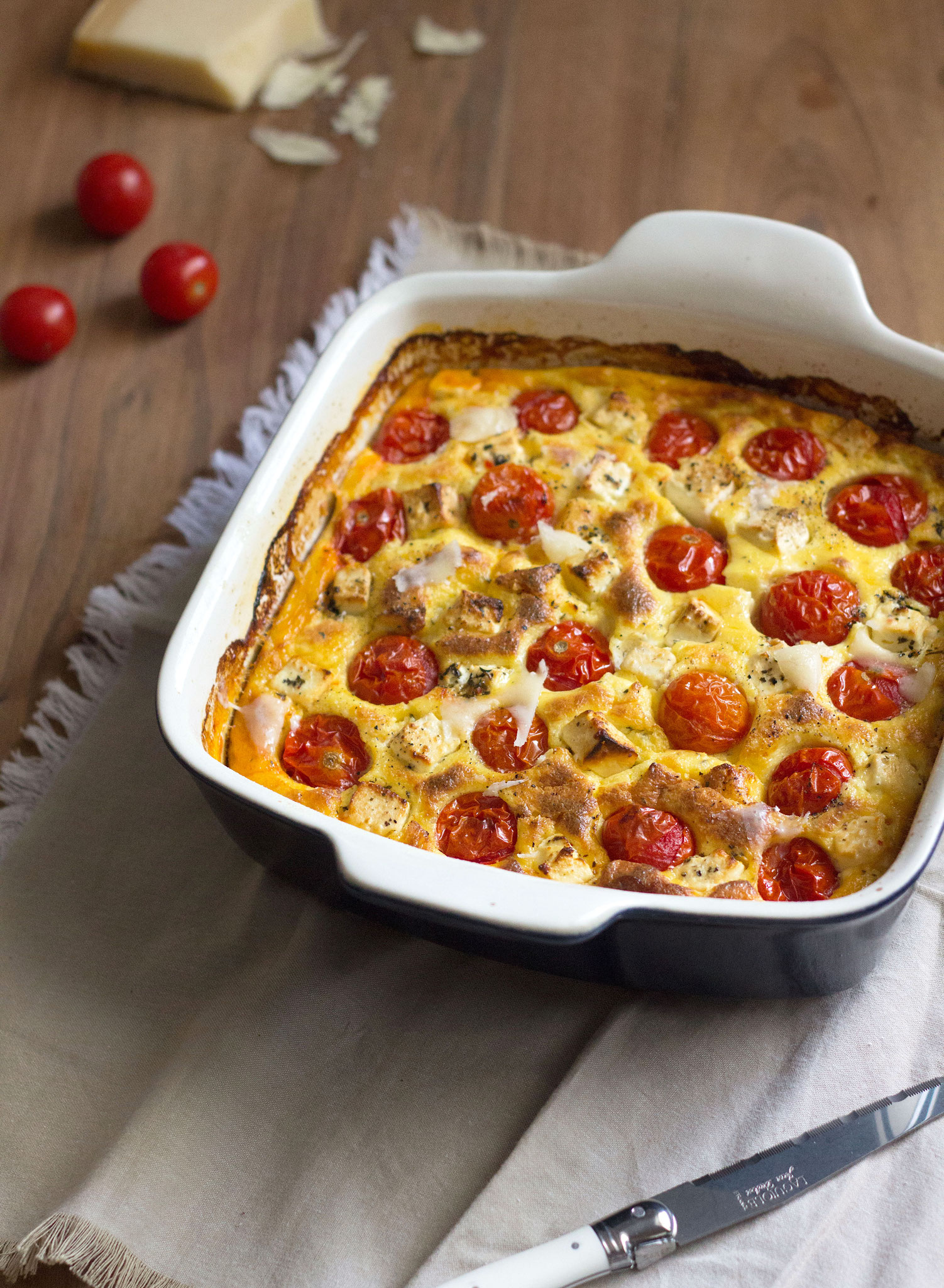 gratin de tomates cerises la polenta et feta lady coquillette recettes de cuisine. Black Bedroom Furniture Sets. Home Design Ideas