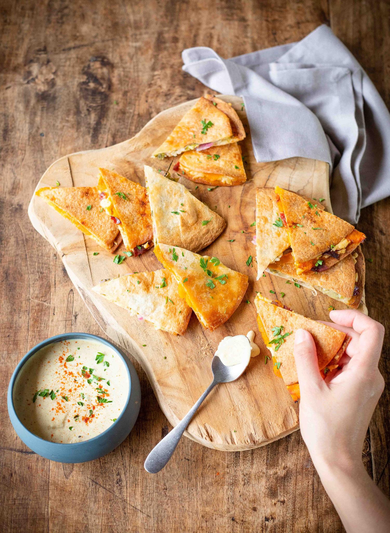 Recette de quesadillas au fromage