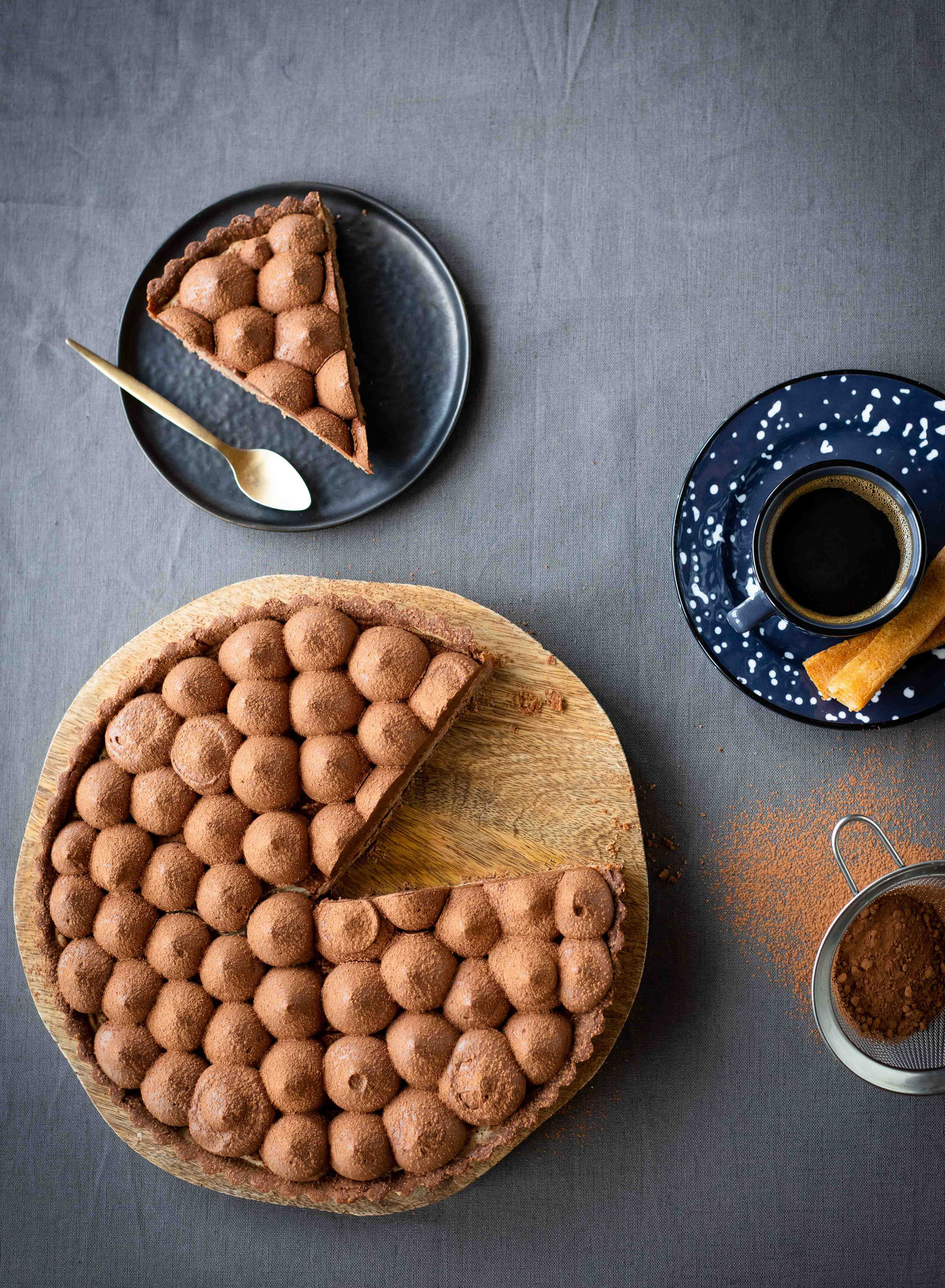 Tarte chocolat café
