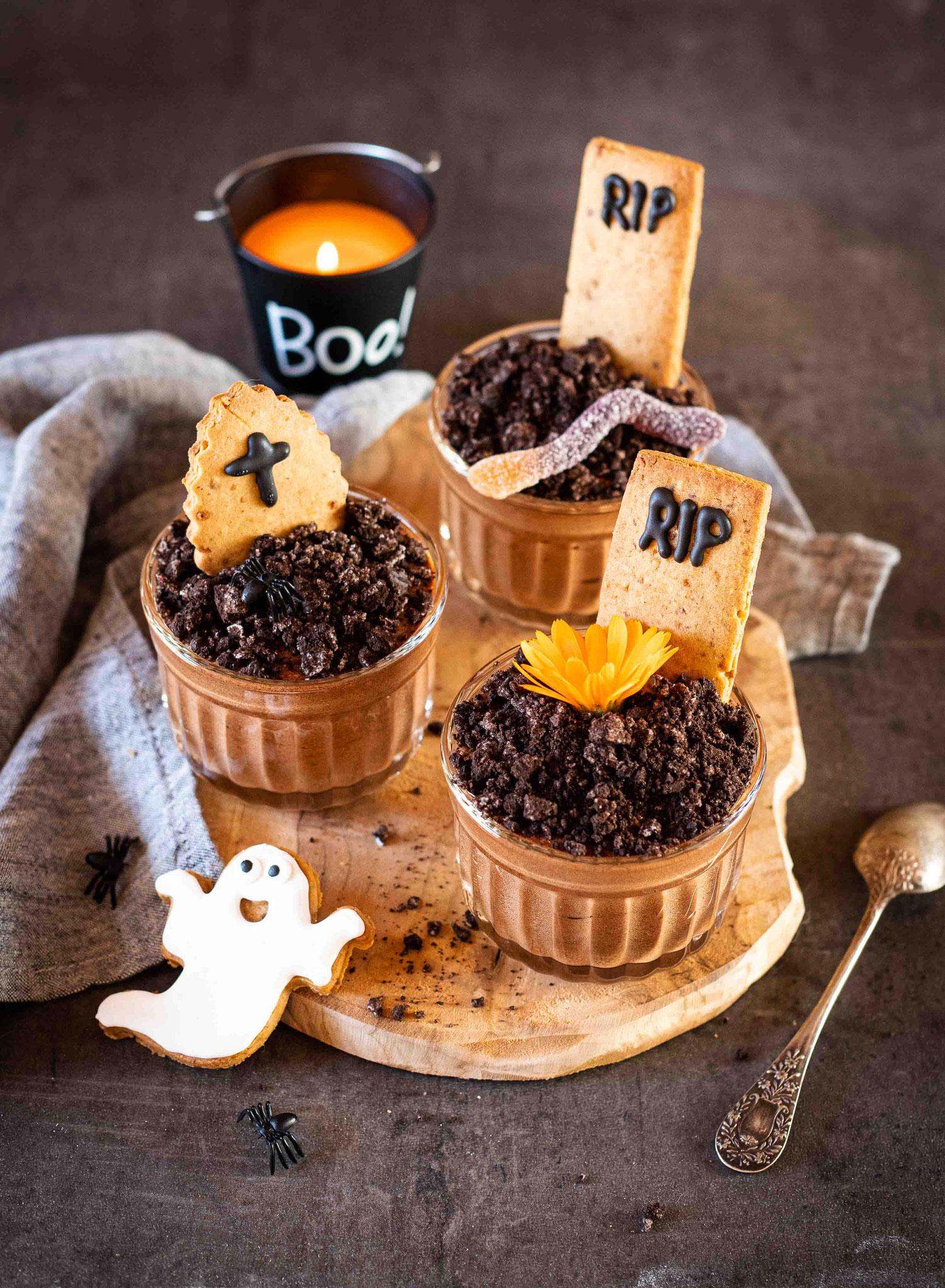 Mousse au chocolat : recette pour Halloween
