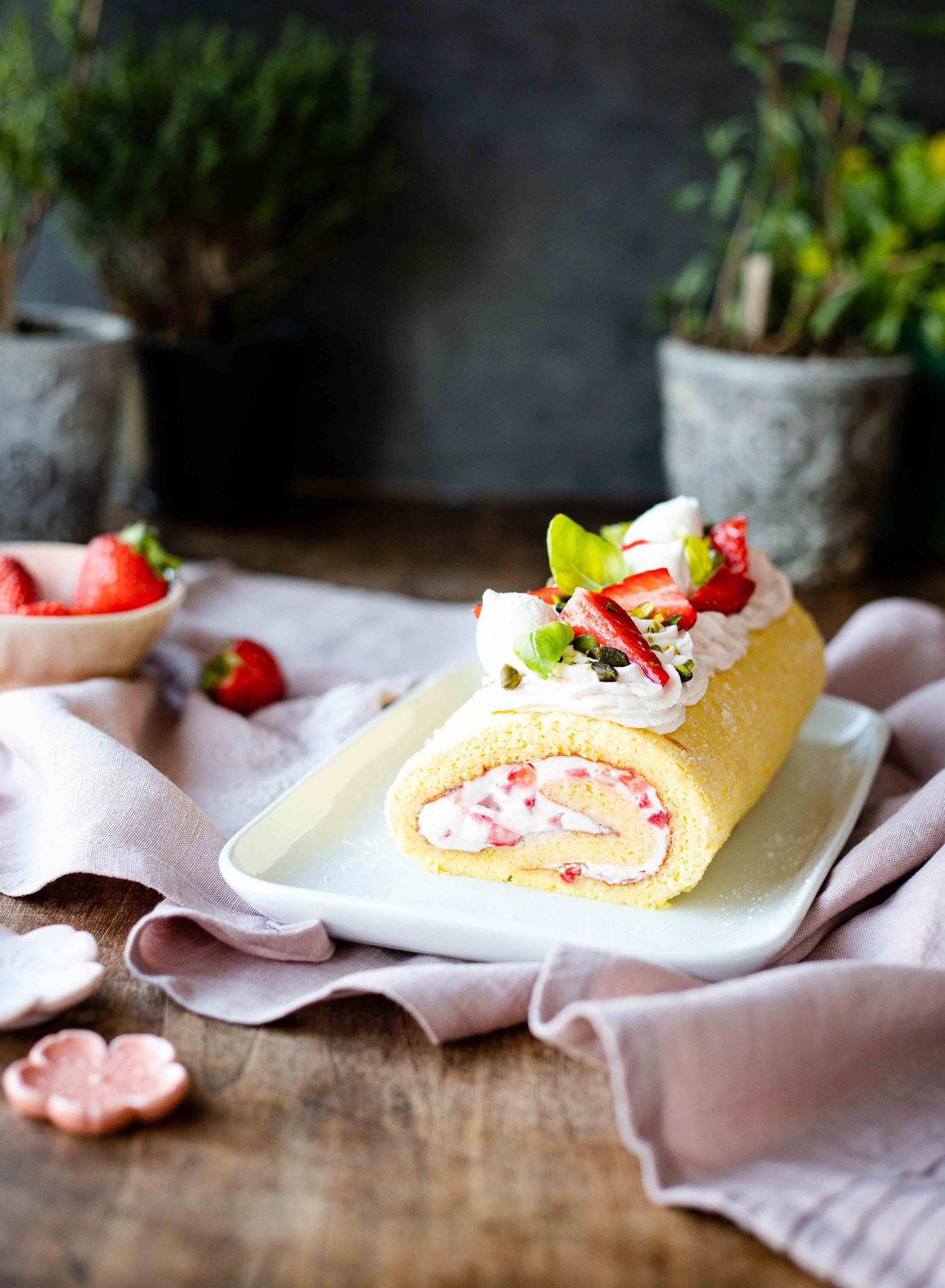 Recette de gâteau roulé à la fraise