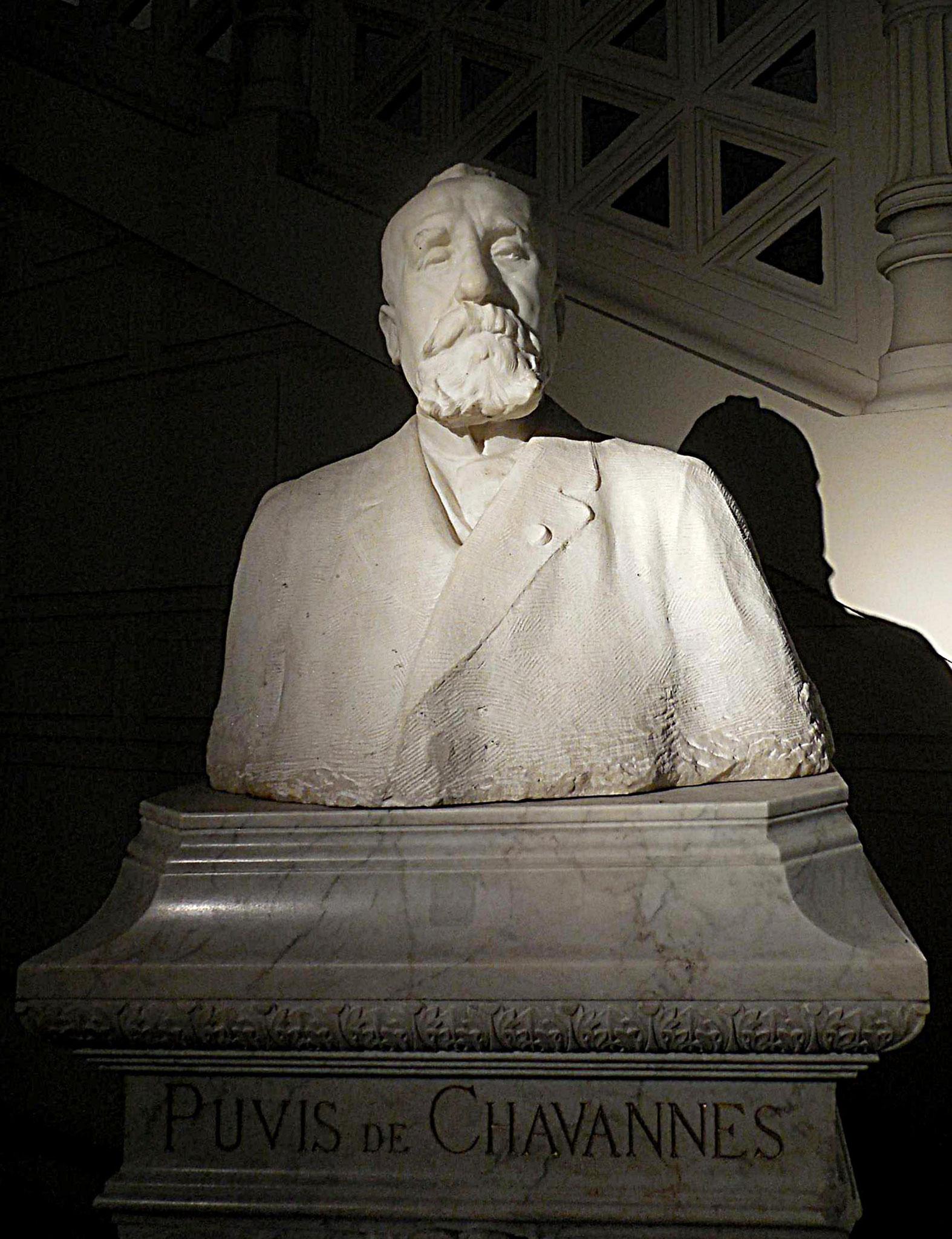 Puvis de Chavannes Pierre, par Auguste Rodin, vers 1891