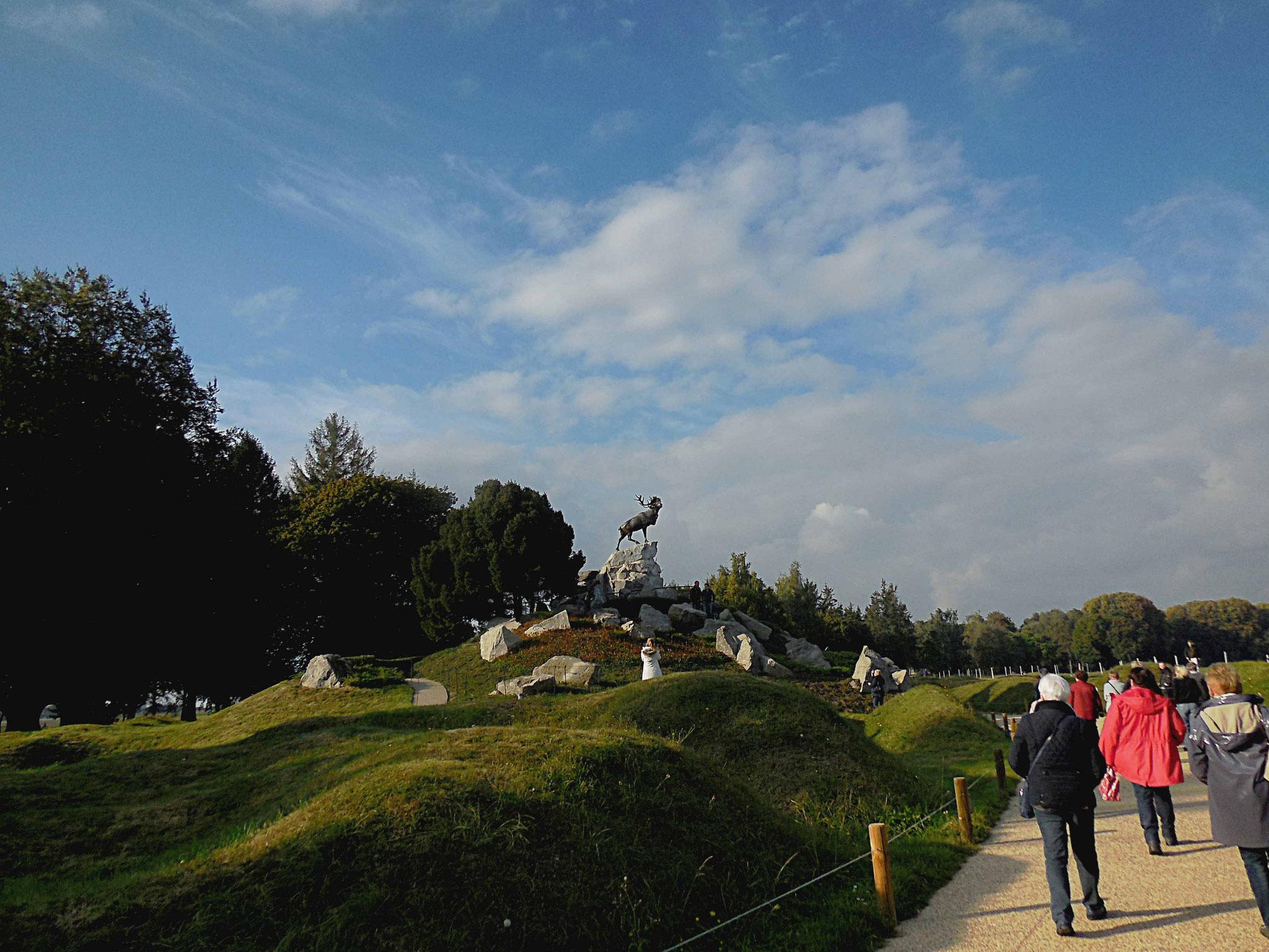 Le rocher du caribou marque le point de départ des assauts du 1er juillet