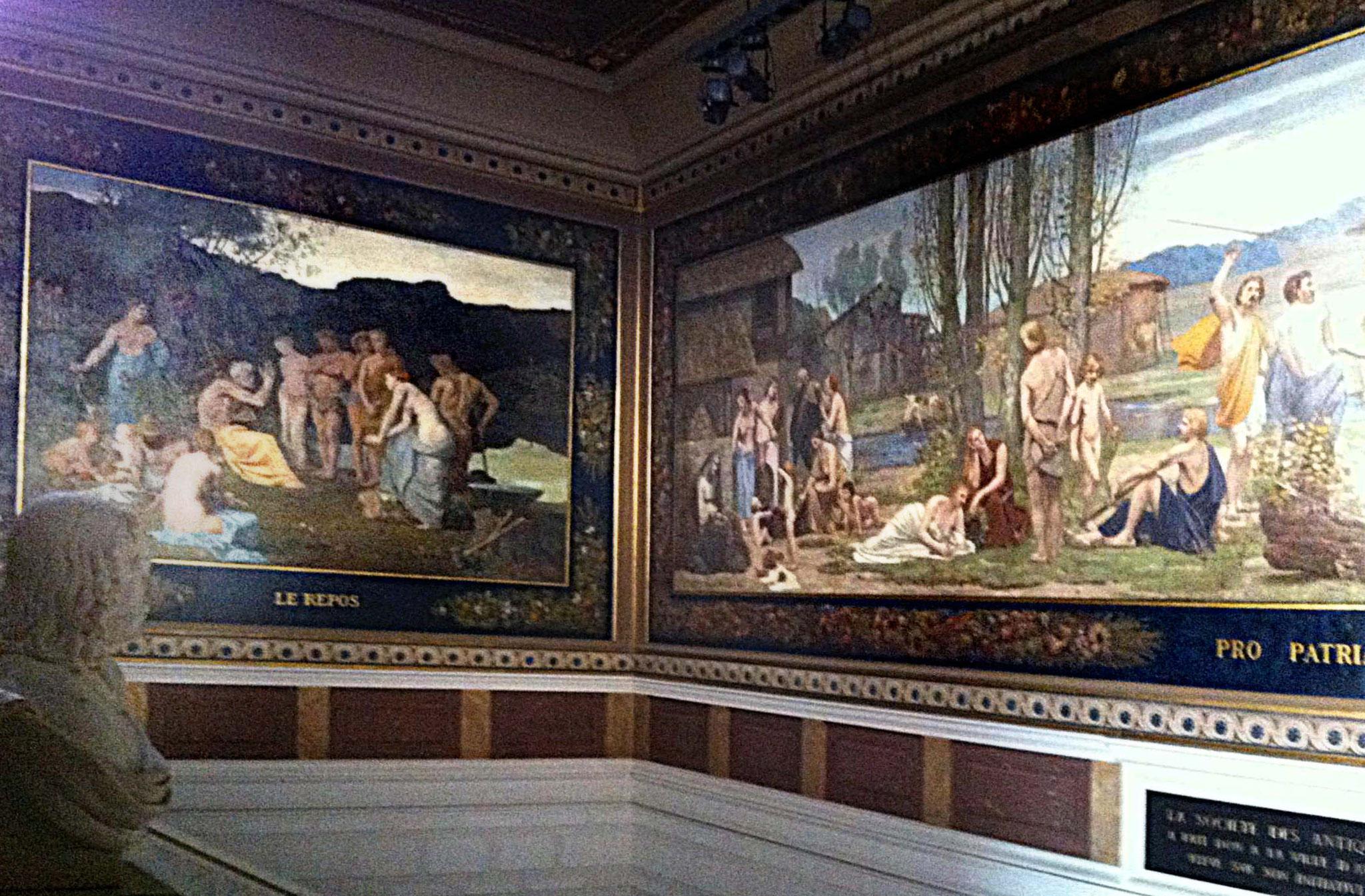 Puvis de Chavannes, Décor de l'escalier d'honneur, vue partielle