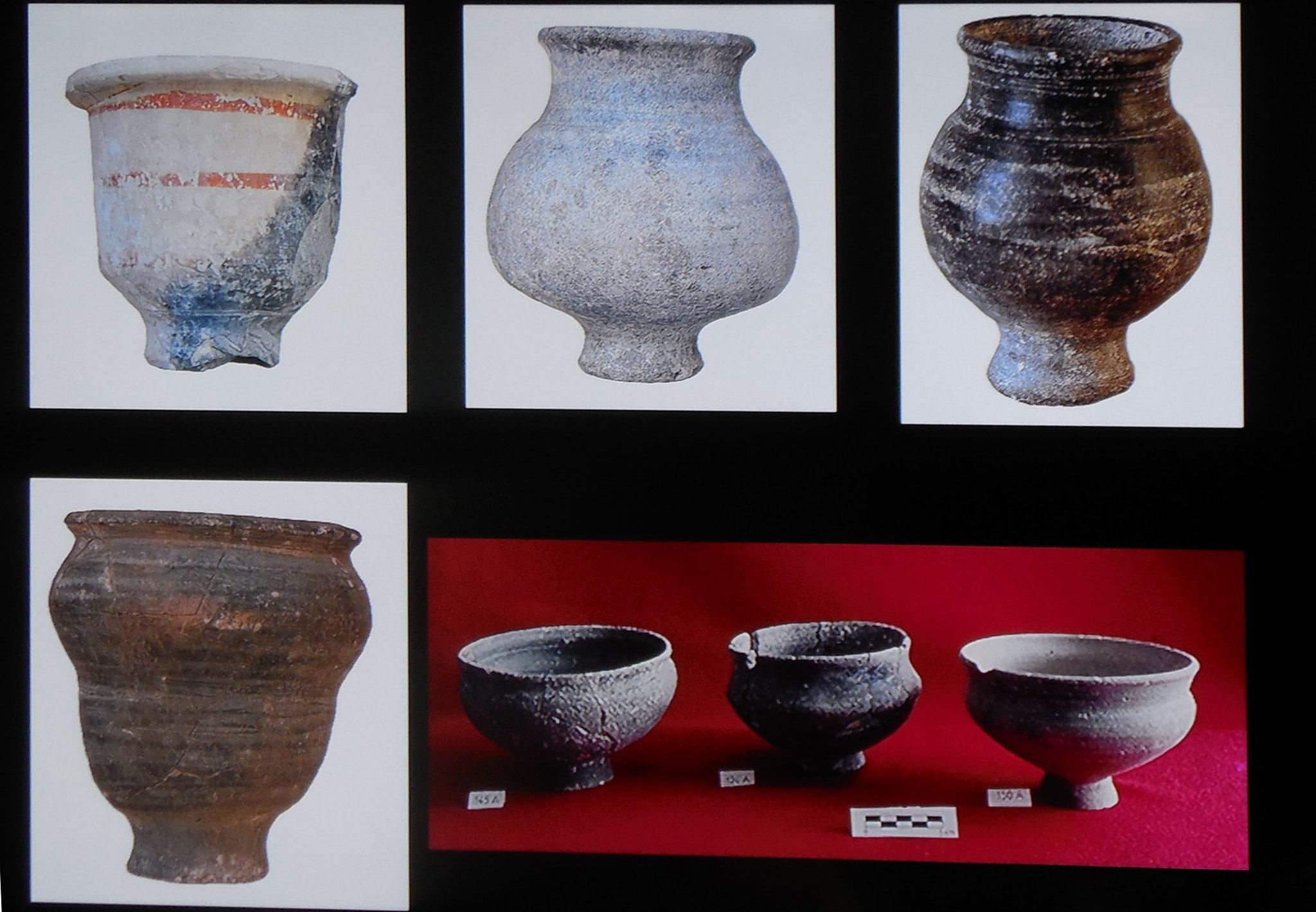 Céramiques de différentes époques