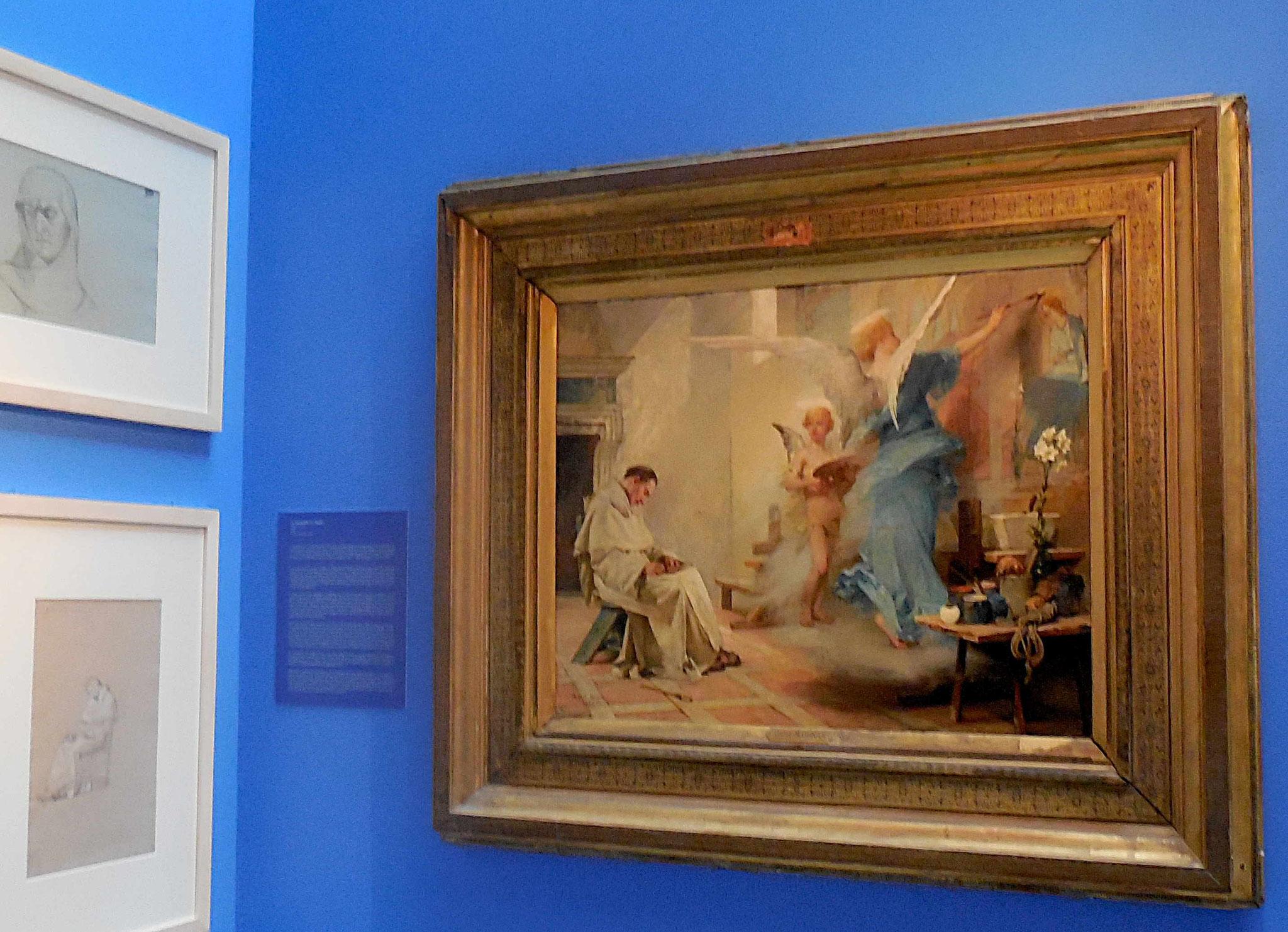 Albert Maignan, tableau inspiré de l'aquarelle réalisée à Florence