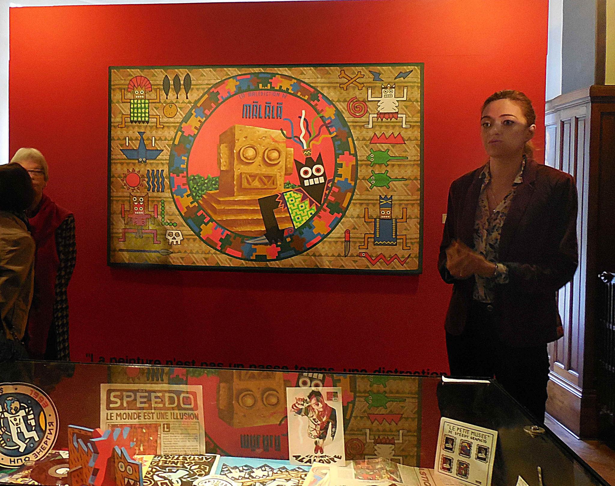 Marie Babo présente la première oeuvre exposée