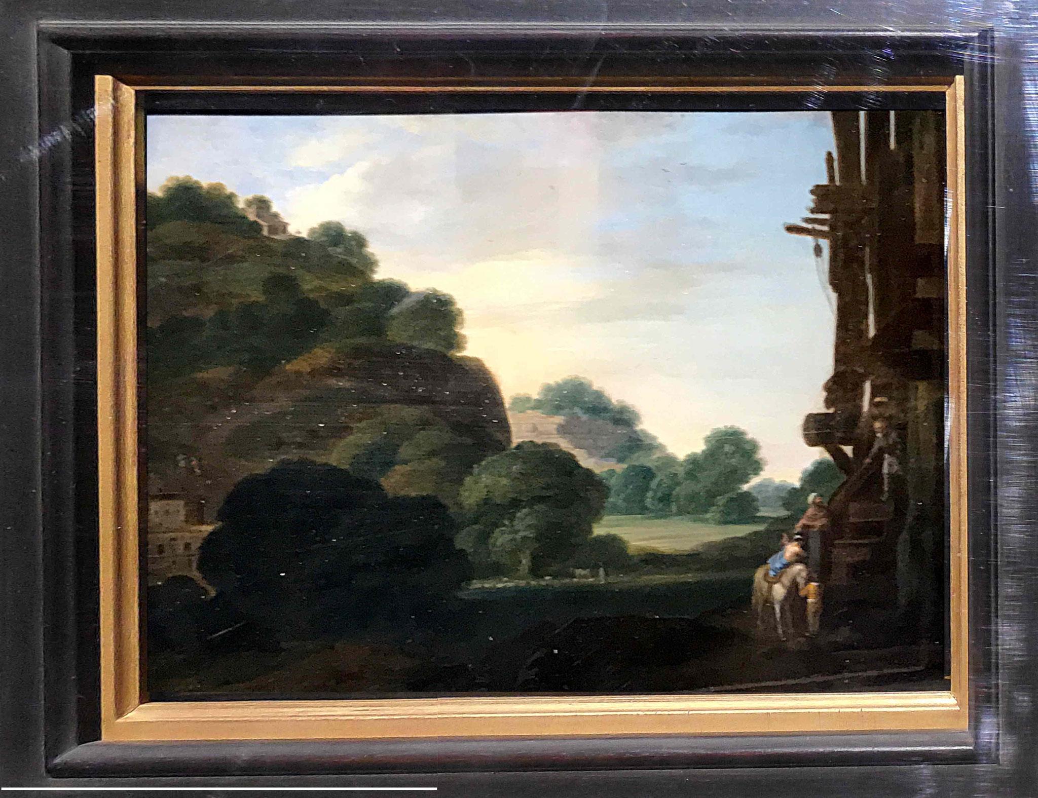 Saraceni Carlo, Le bon Samaritain, huile sur cuivre, vers 1605 : La fère, musée Jeanne d'Aboville