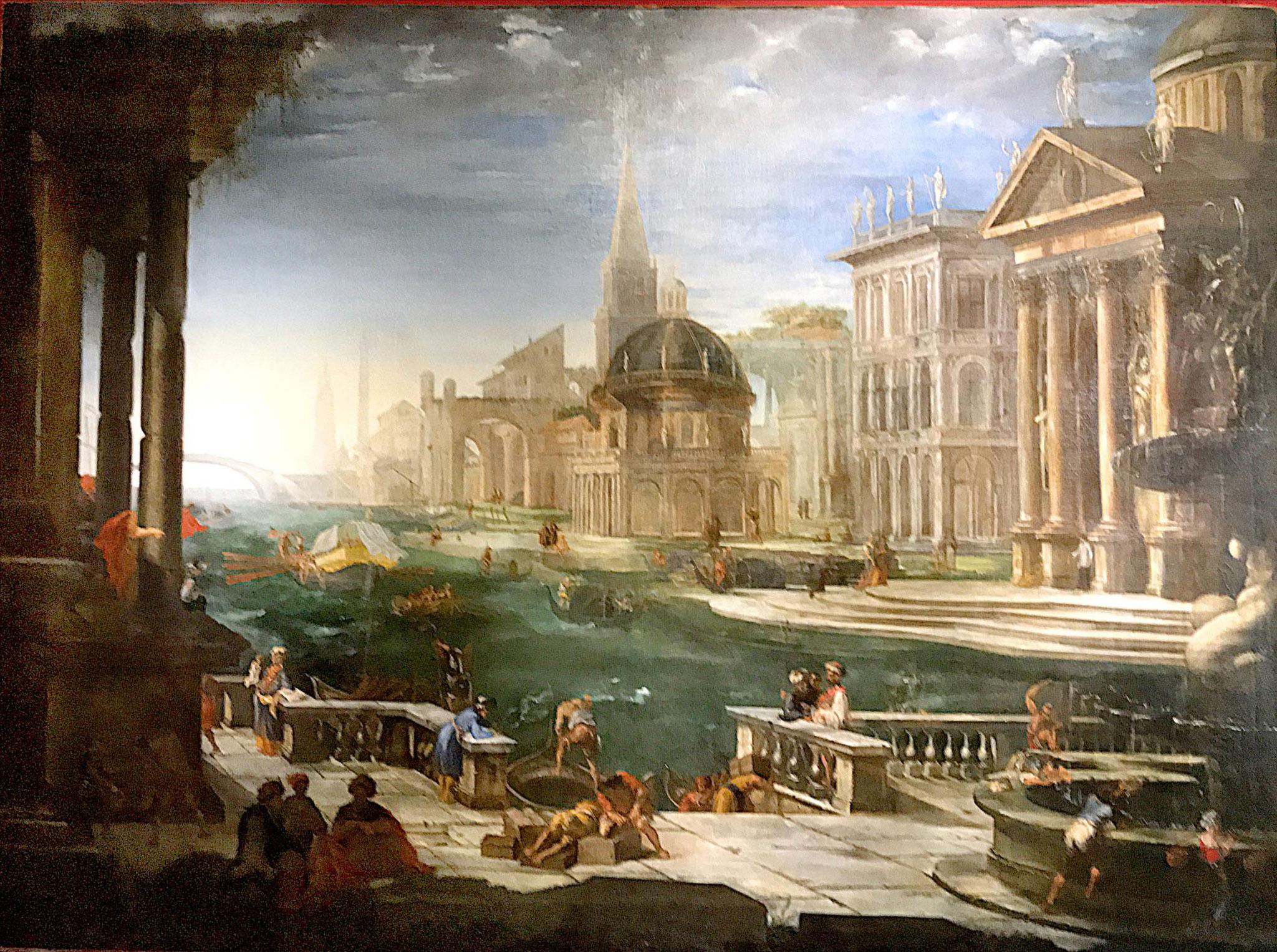 Salucci Alessandro, Vue d'un canal bordé d'architecture, XVIIe / musée de Picardie