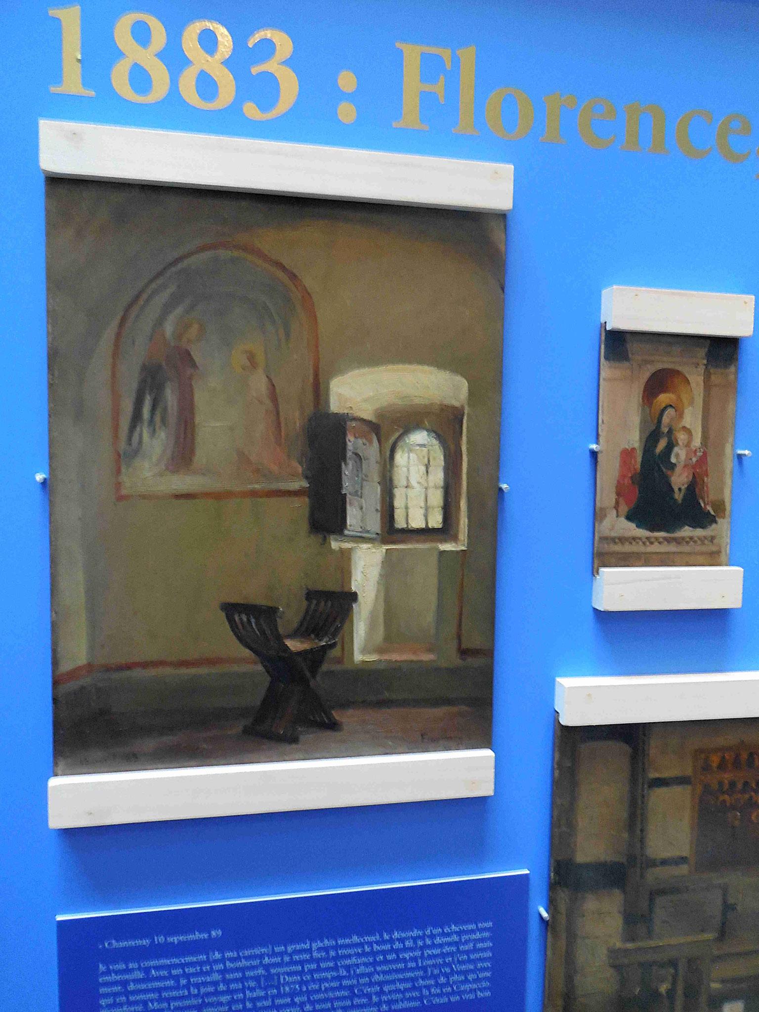 Une aquarelle réalisée dans la cellule de Fra Angelico à Florence