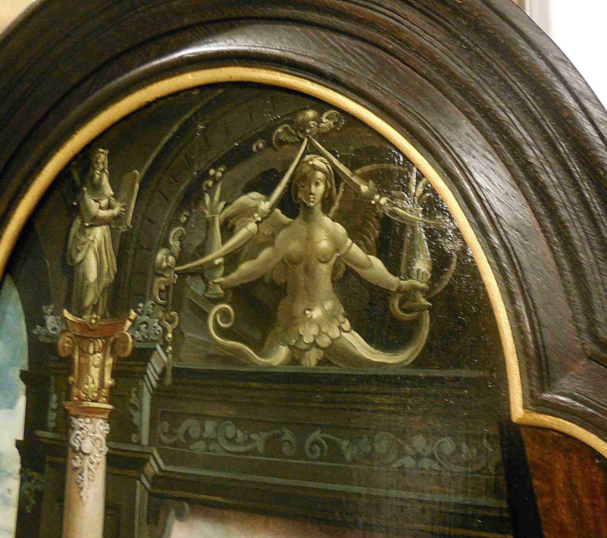 Pieter Coecke van Aelst, Vierge aux cerises, détail du décor style grotesque