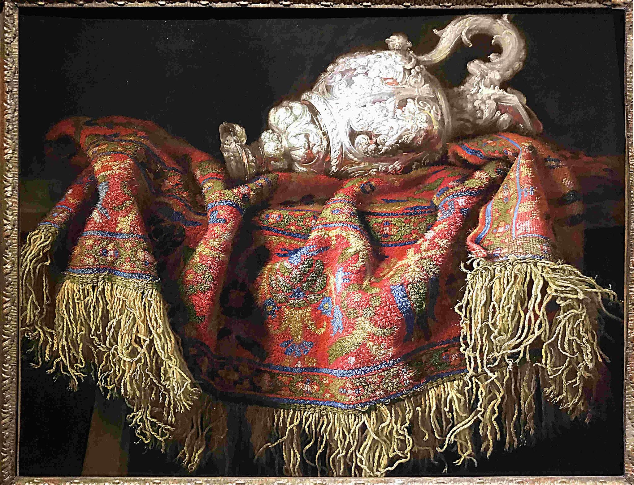 Noletti Francesco, Nature morte au tapis et à l'aiguière, vers 1640 / MUDO