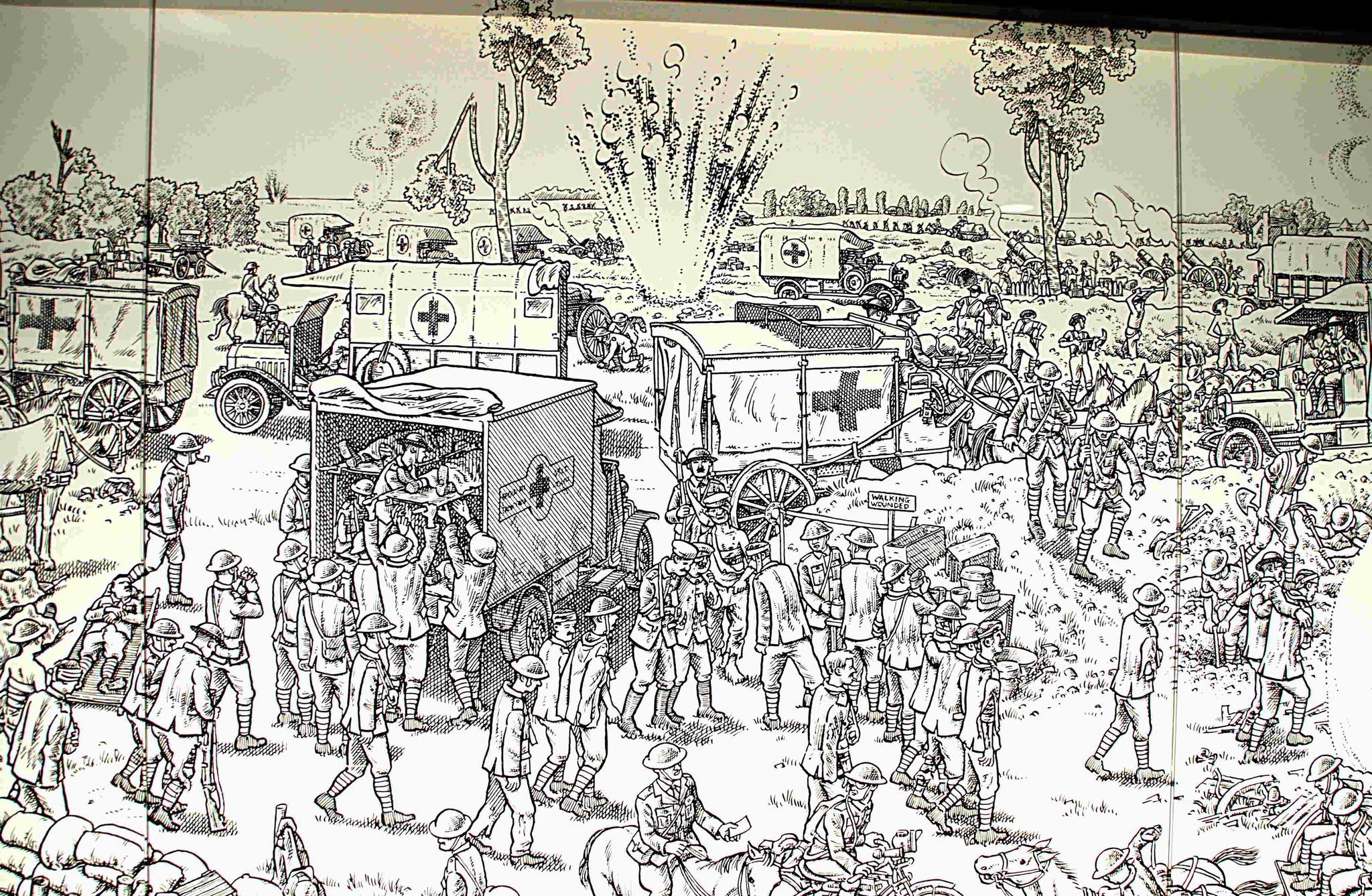 Evacuation des blessés