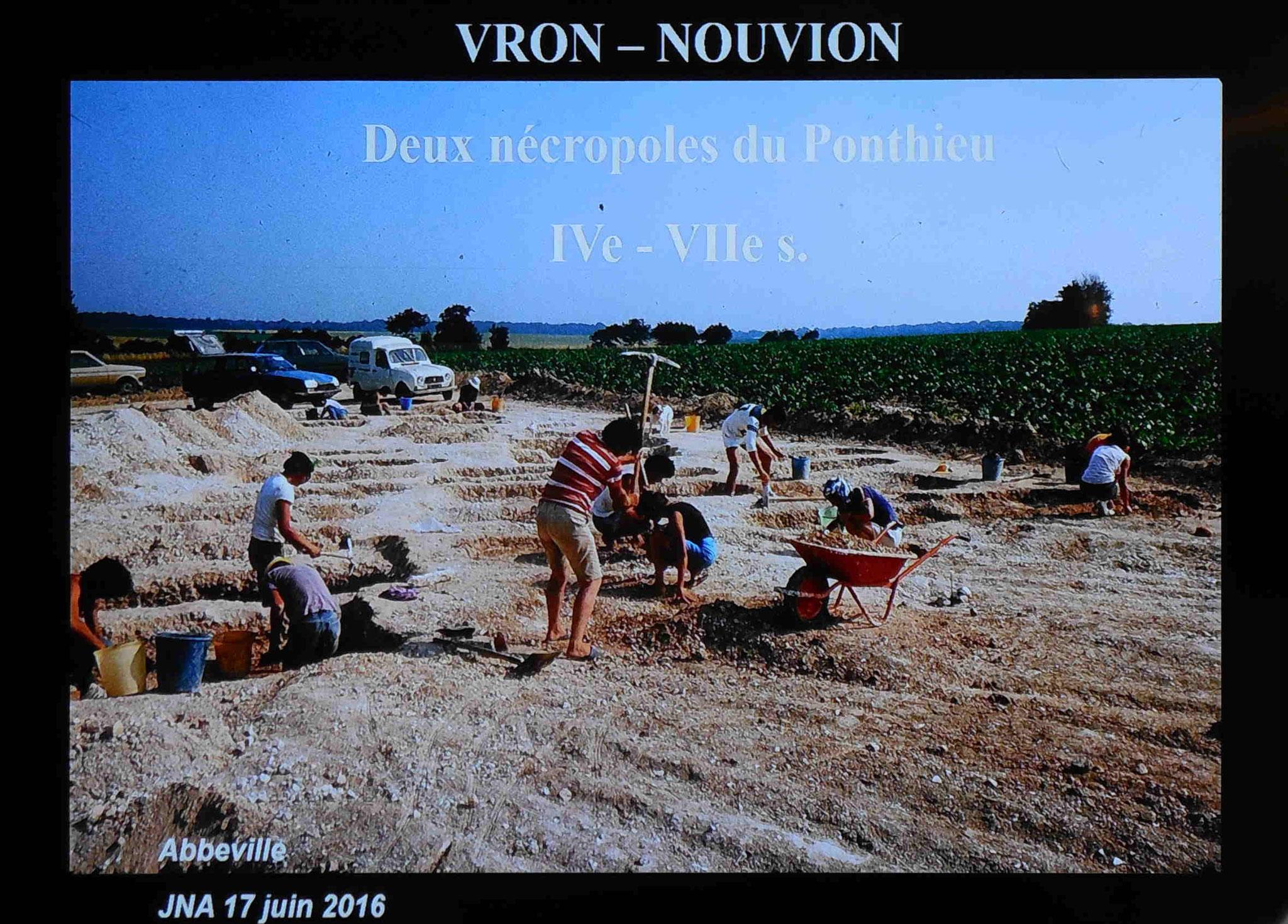 Chantier de fouilles de Nouvion vers 1985