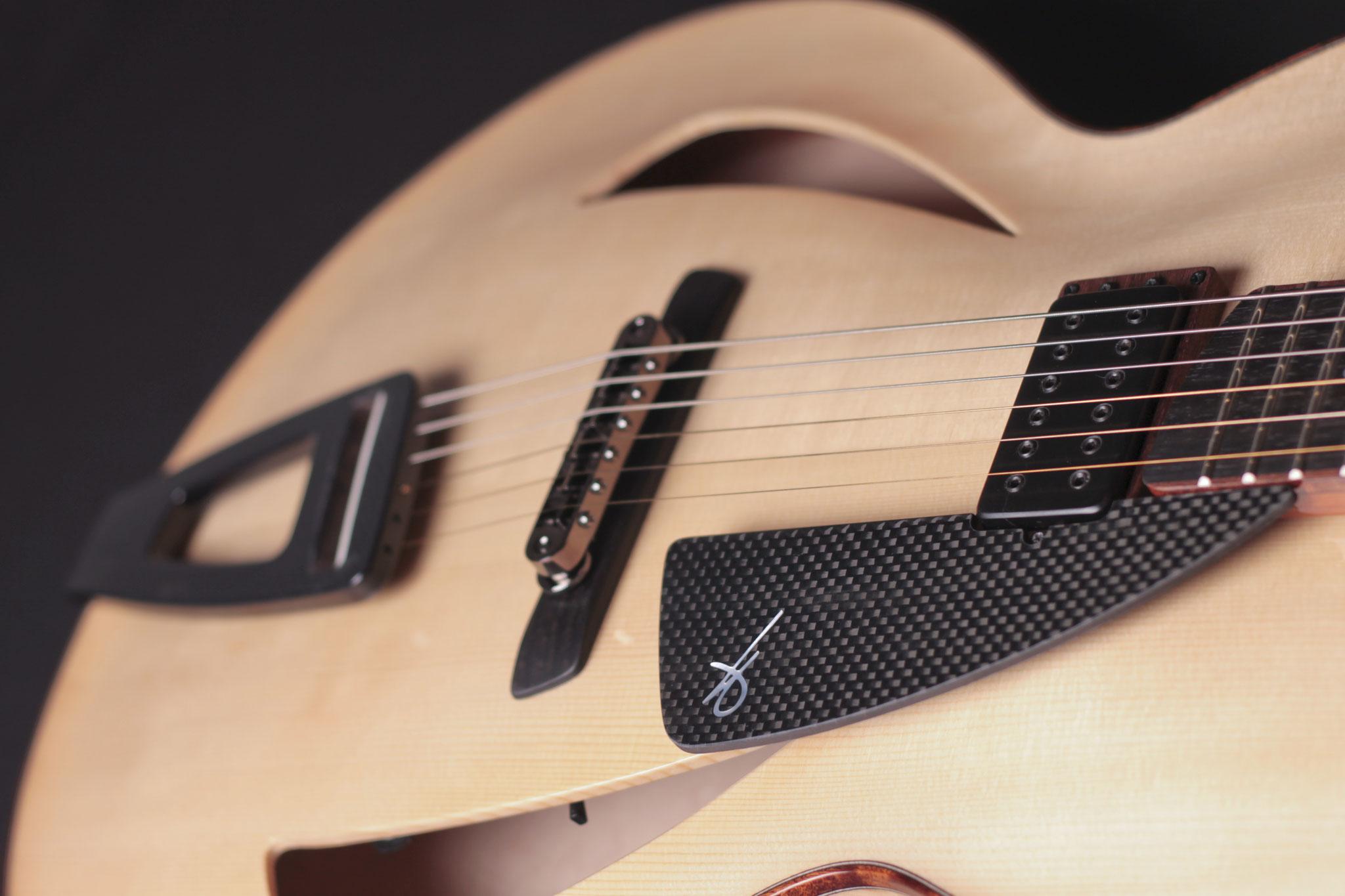 "16"" Montreux Model, carbon fiber pickguard"