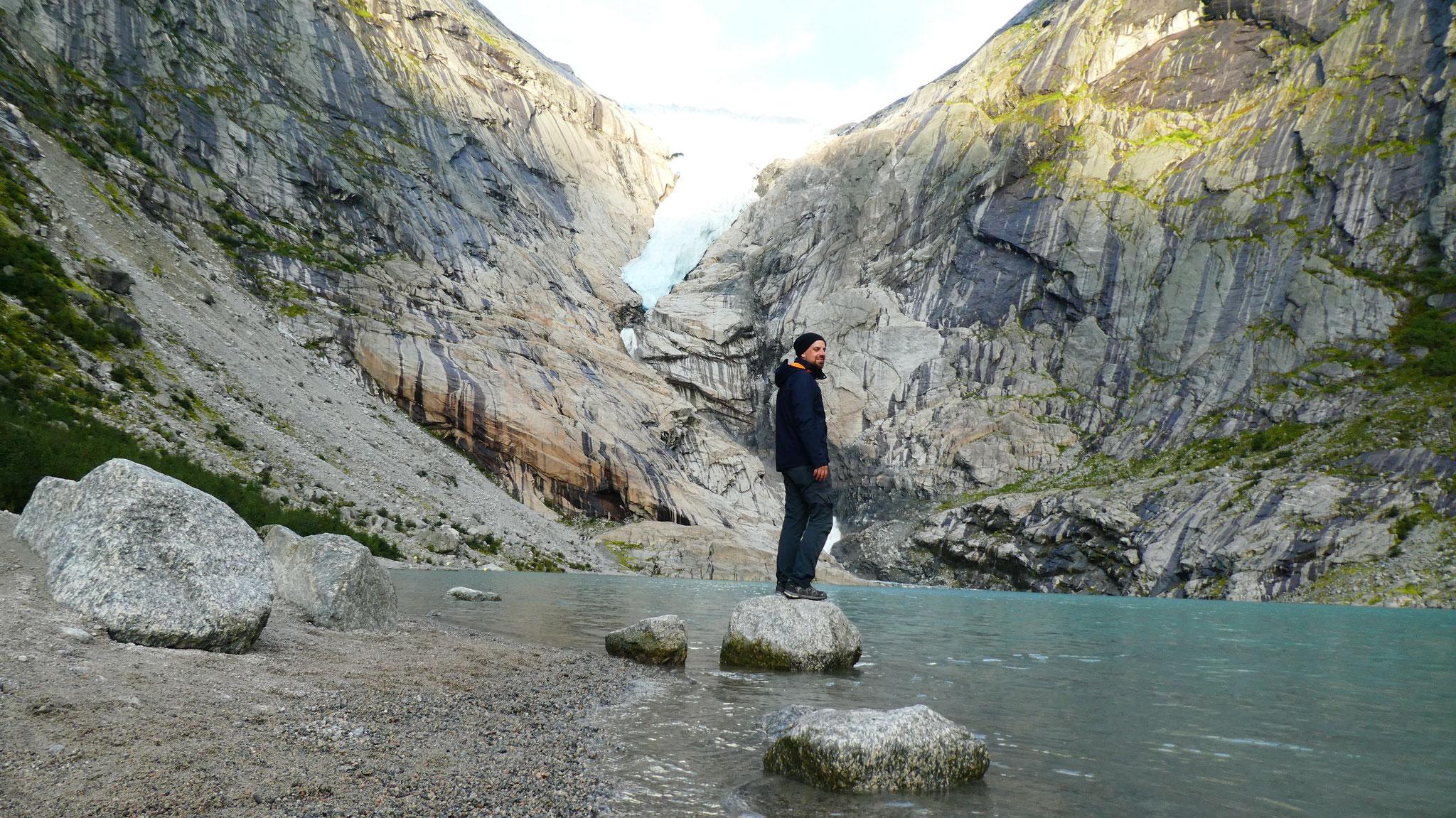 Briksdalsbreen Gletscher Wanderung