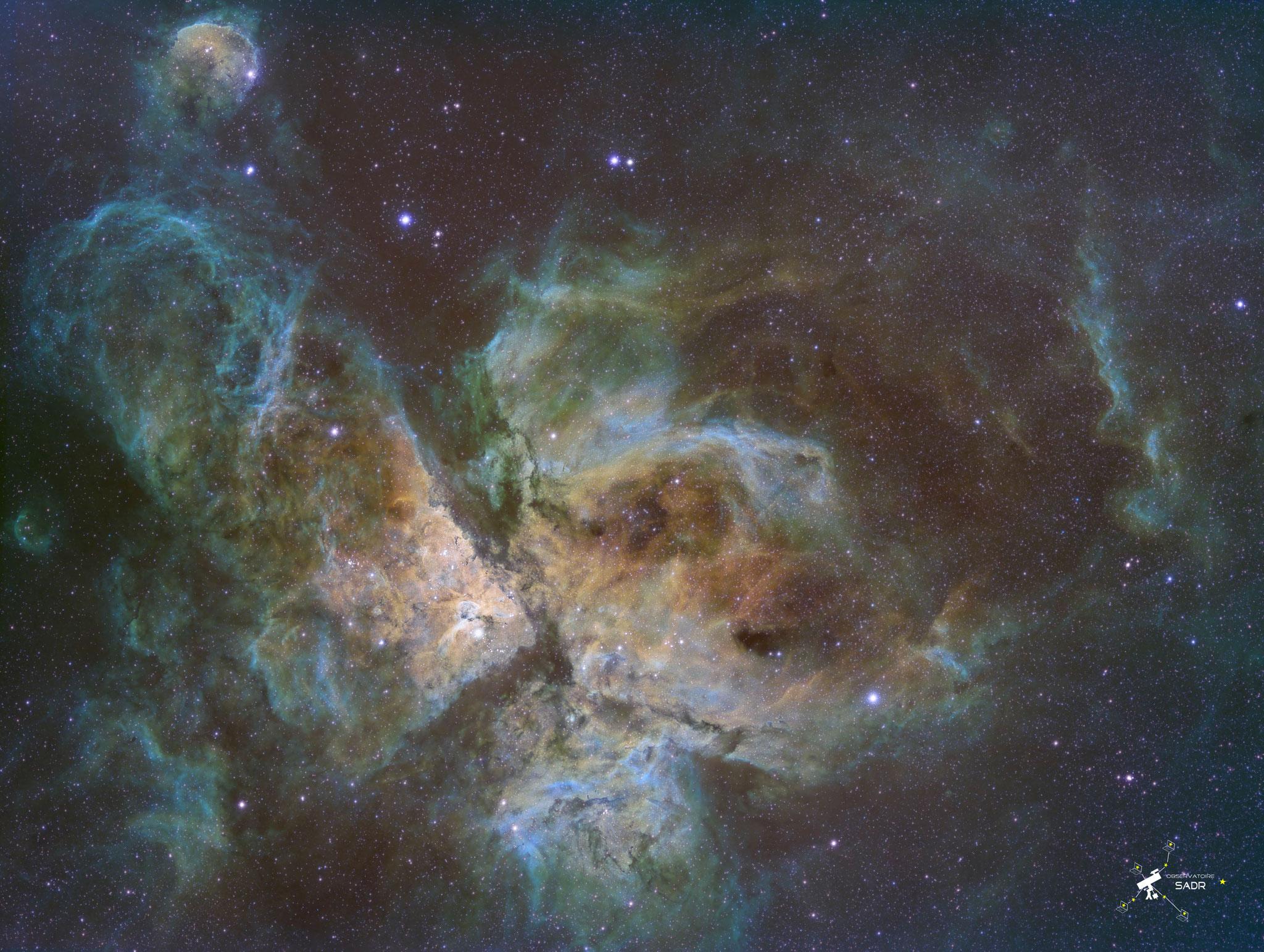 NGC 3372, SHO, lunette 71, David